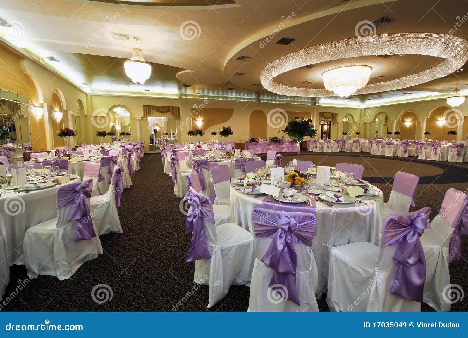 De balzaal van het huwelijk of van het banket
