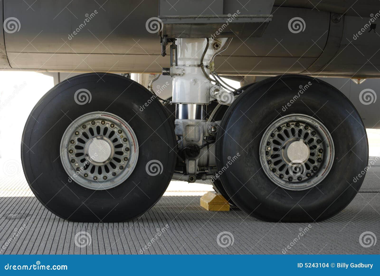 De Banden van vliegtuigen