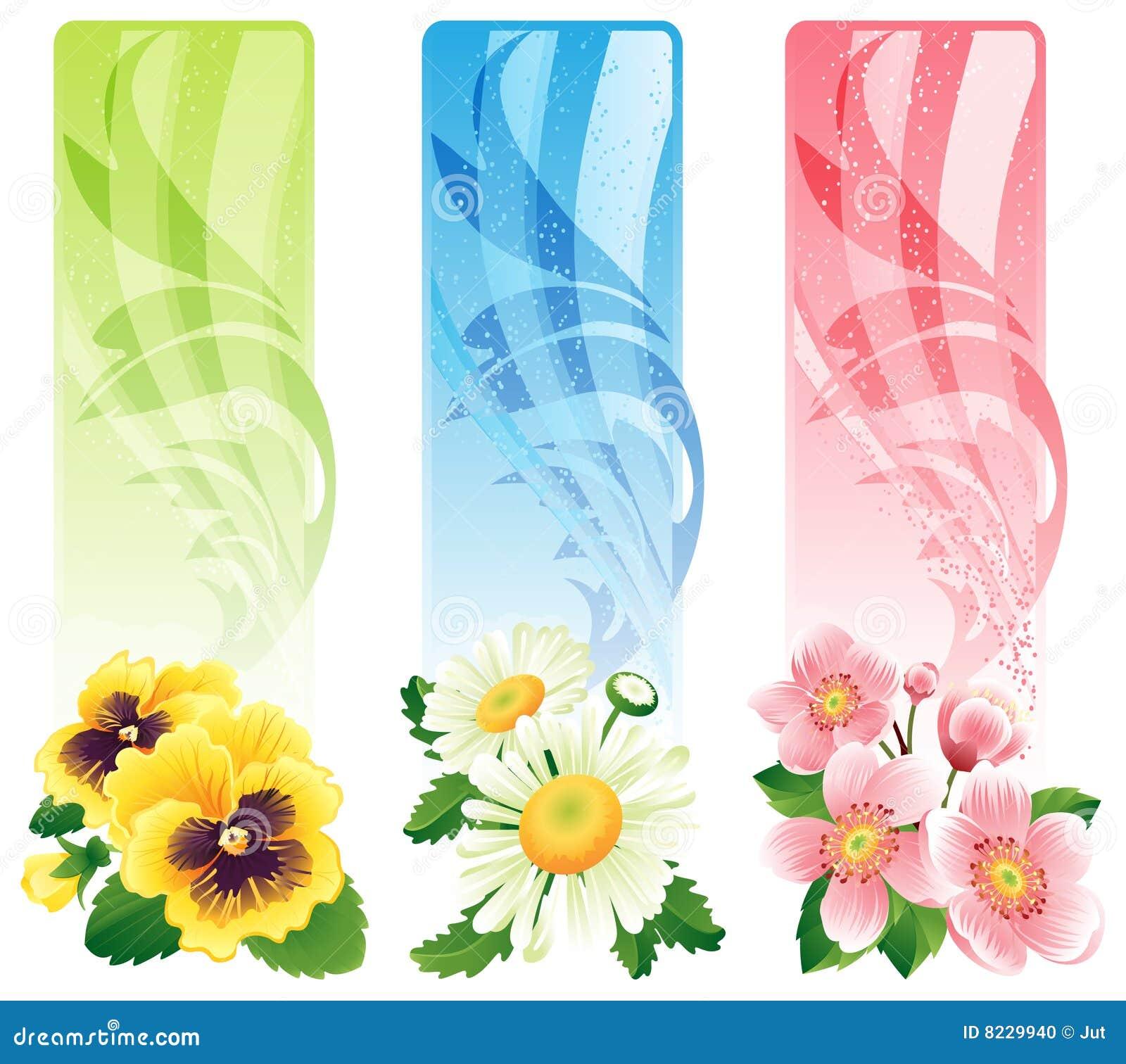 De banner van de bloem