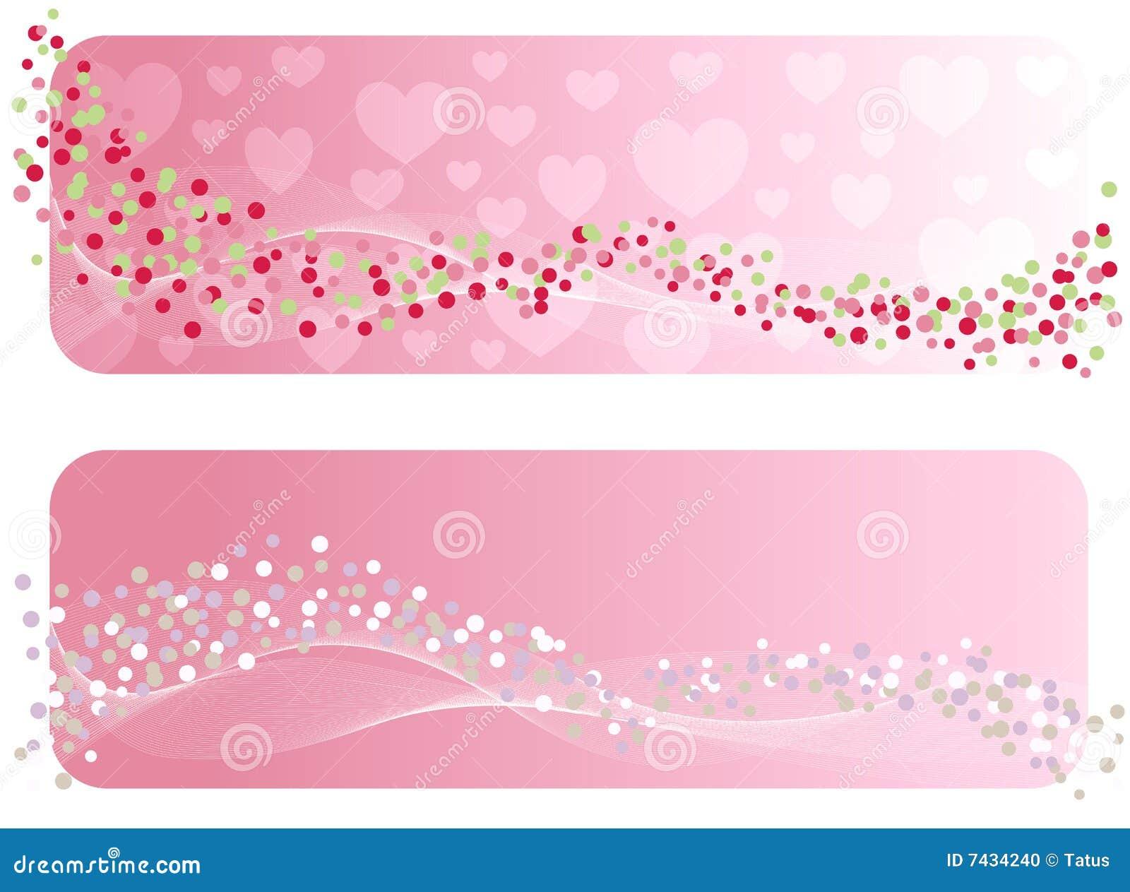 De banner van de Valentijnskaart.
