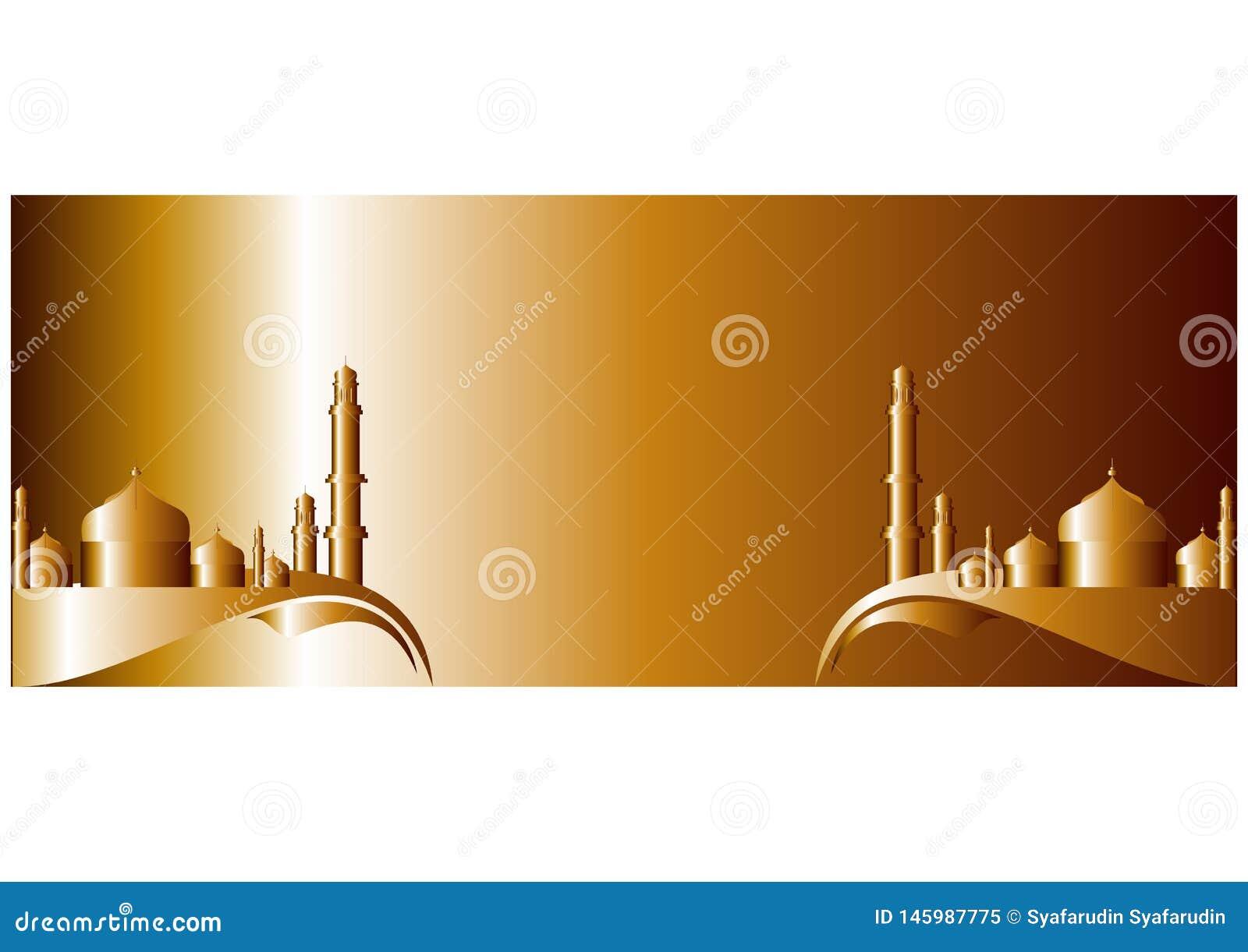 De banner van Ramadhankareem voor Moslims die vieren