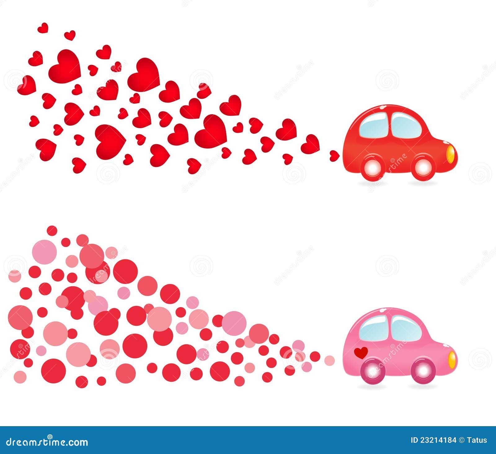 De banner van Valentin met auto