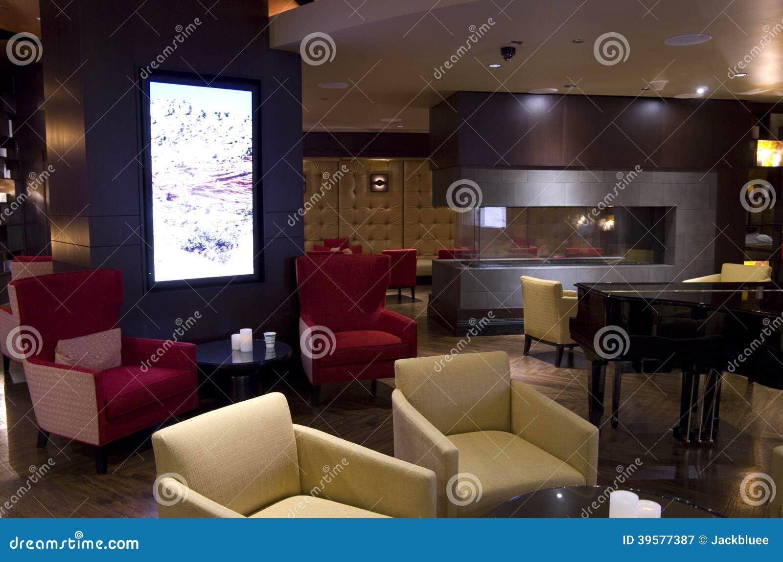 De bar van de hotelhal