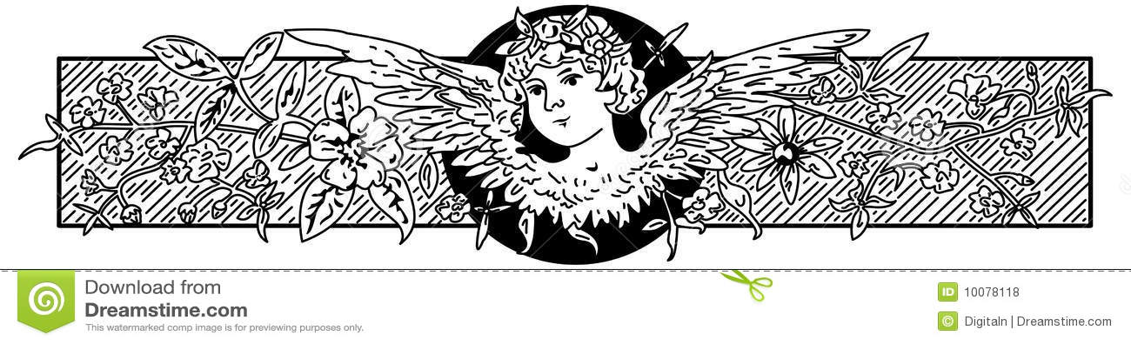 De barokke illustratie van de Engel