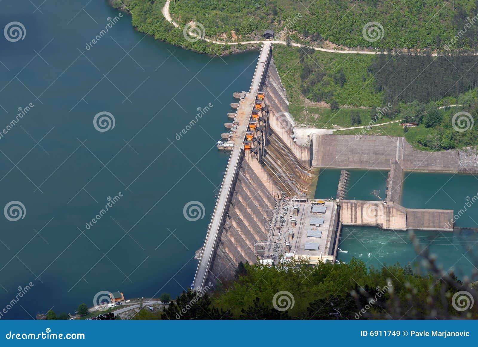 De barrièredam van het water