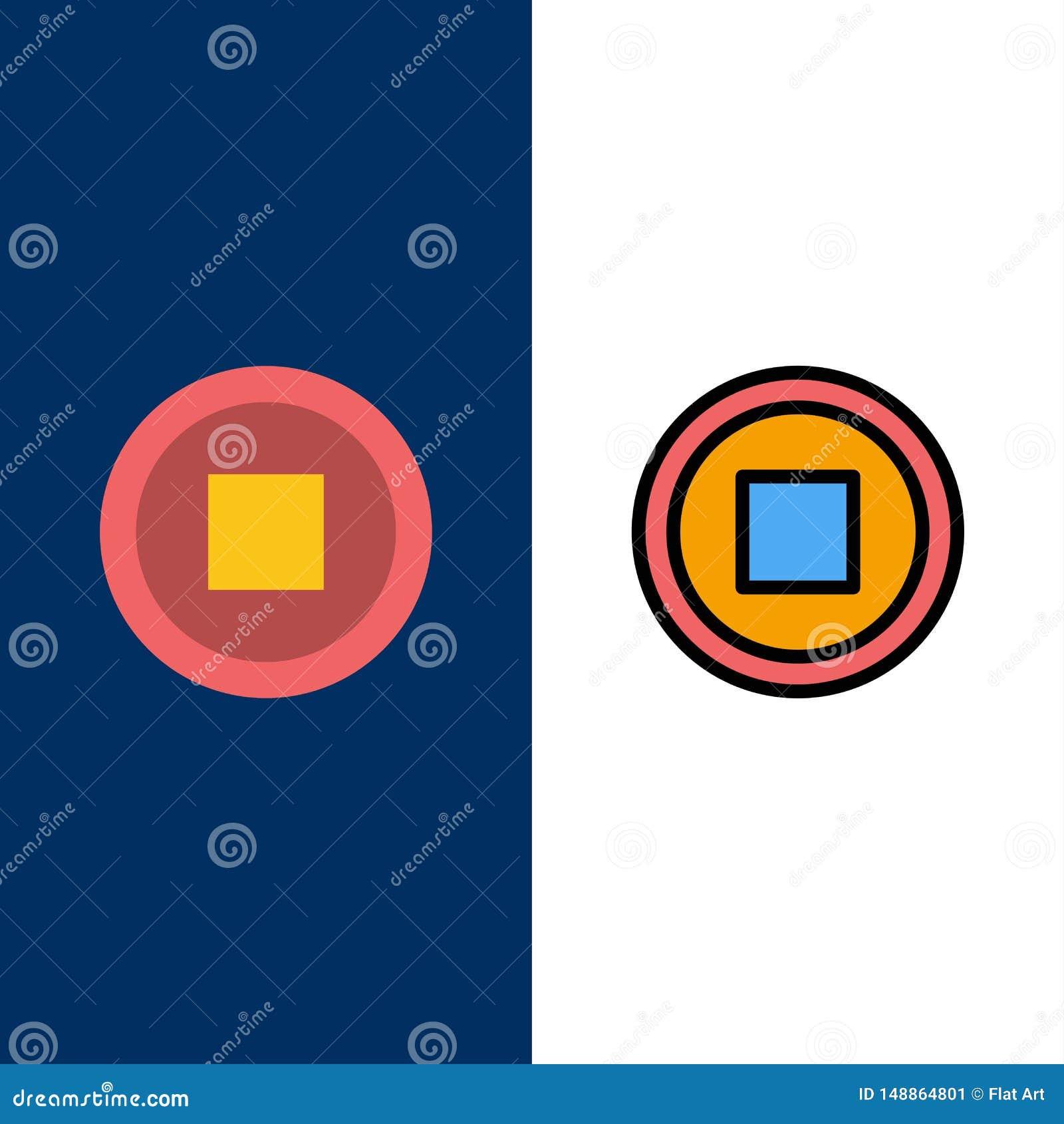 De base, interface, icônes d utilisateur L appartement et la ligne icône remplie ont placé le fond bleu de vecteur
