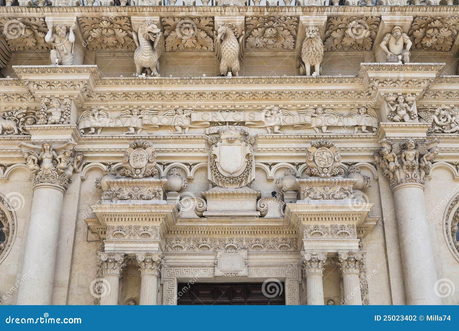 De Basiliek van Croce van de kerstman. Lecce. Puglia. Italië.