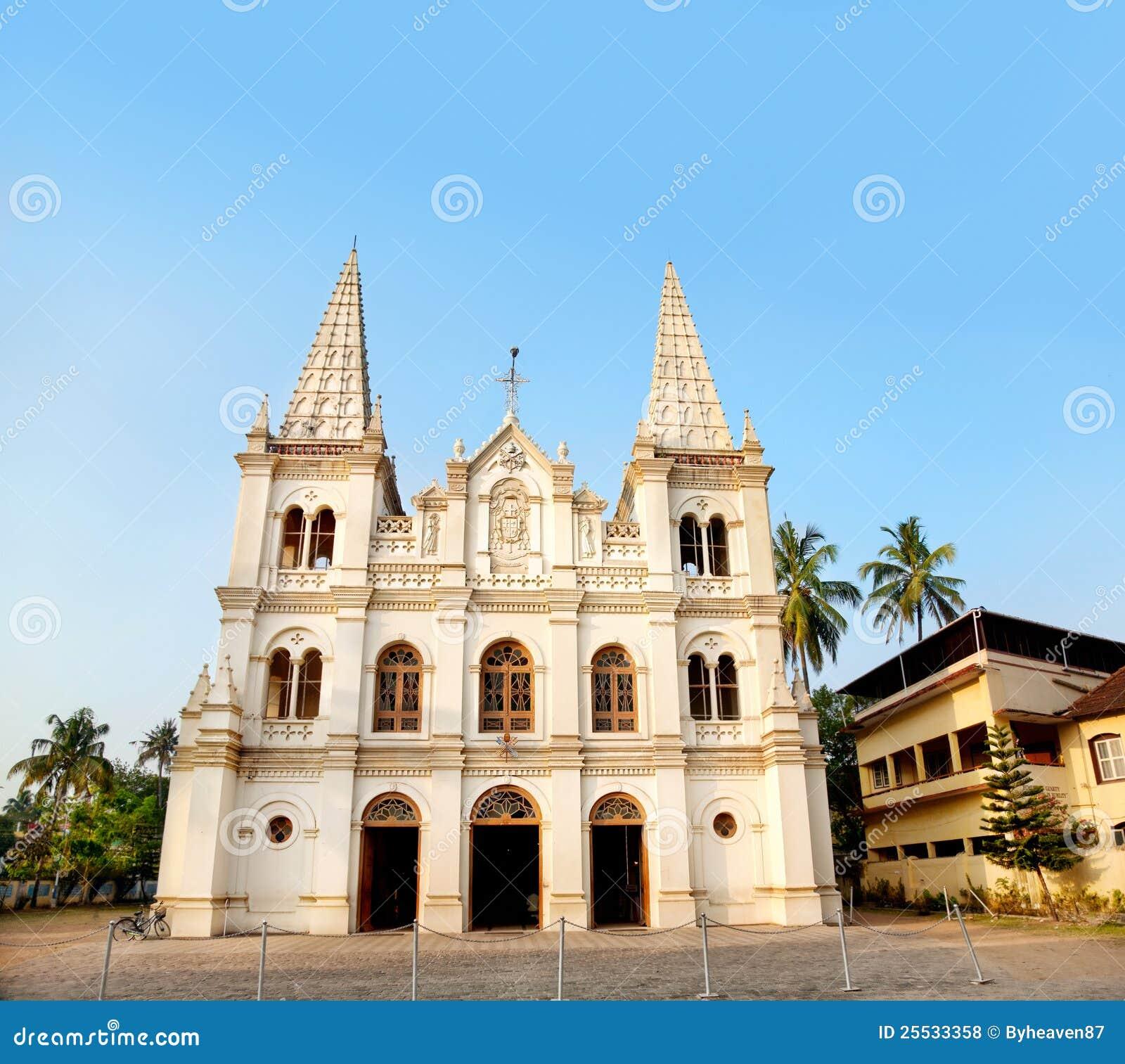 De basiliek van Cruz van de kerstman in Kochi