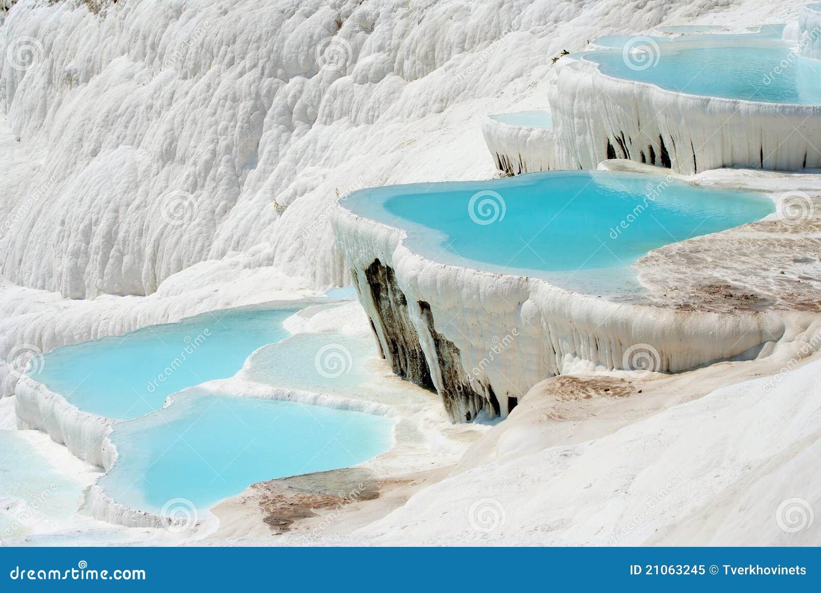De bassins van Pamukkale