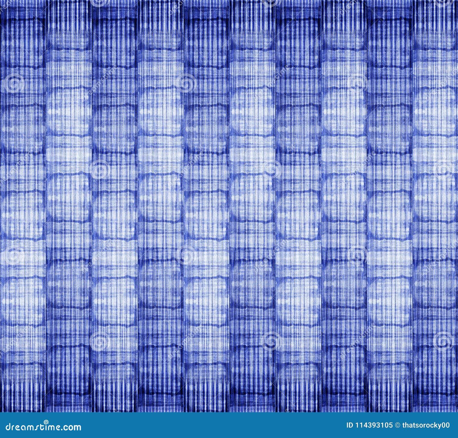 De de batiktextuur van de bandkleurstof herhaalt modern patroon
