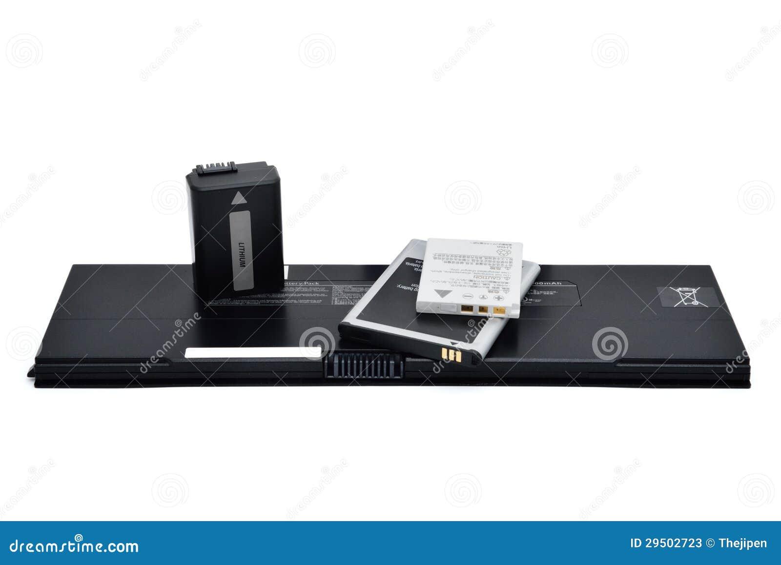 De batterijen van het lithium iosn