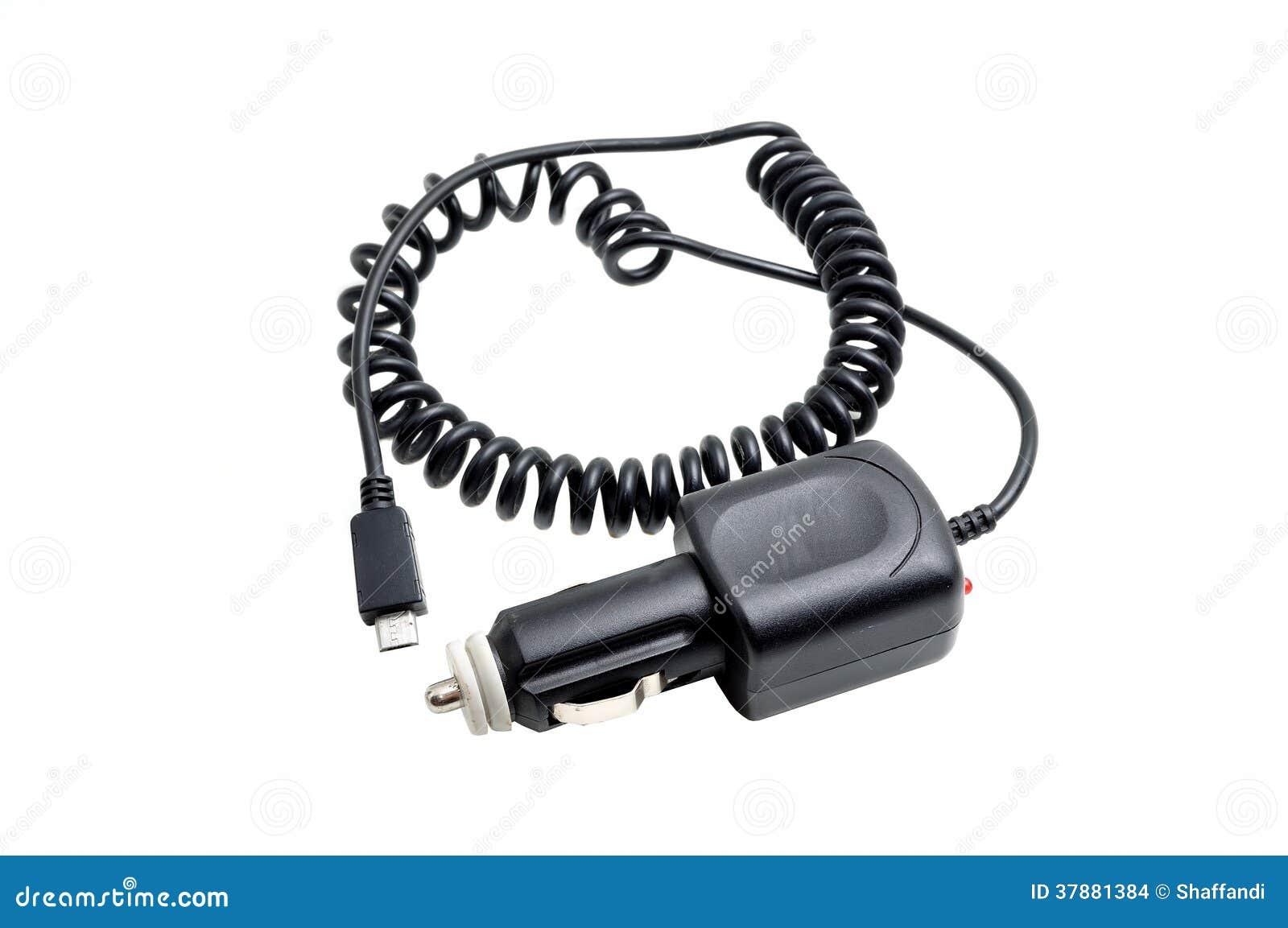 De batterijlader van de auto mobiele telefoon