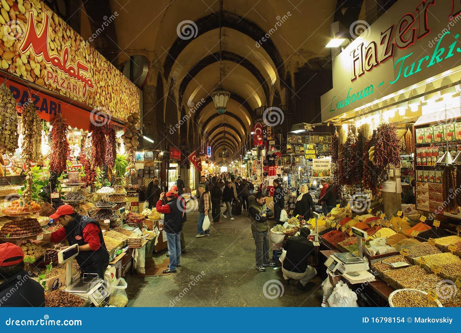 de bazaar van het kruid egyptische bazaar in istanboel redactionele stock afbeelding. Black Bedroom Furniture Sets. Home Design Ideas