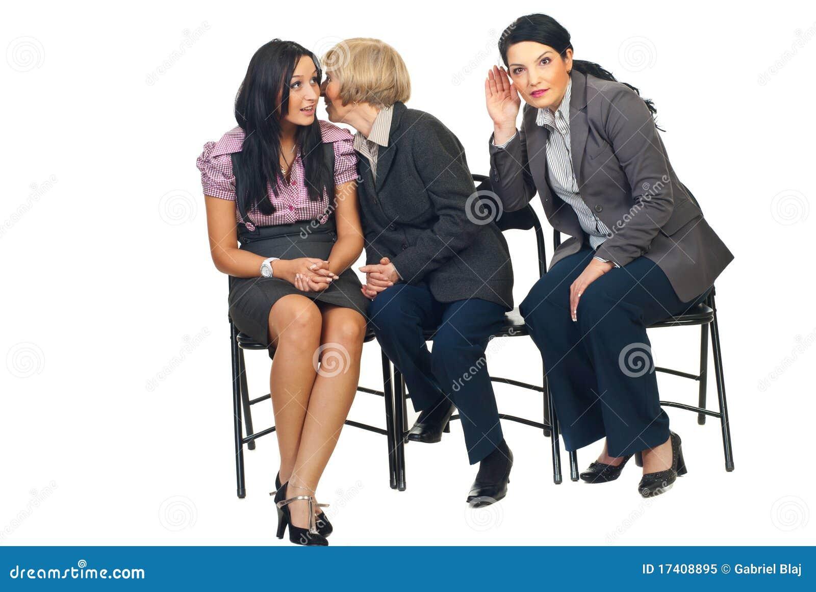 De bedrijfs vrouwen vertelt geheimen