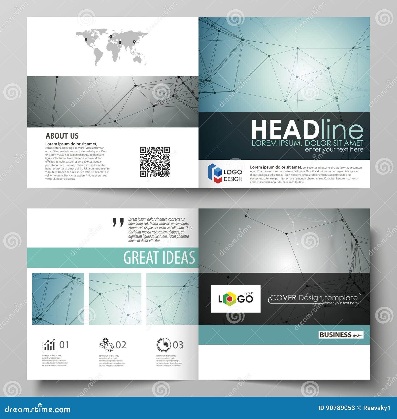 De bedrijfsmalplaatjes voor vierkant ontwerpbi vouwen brochure, vlieger, boekje of jaarverslag Pamfletdekking, abstracte vector