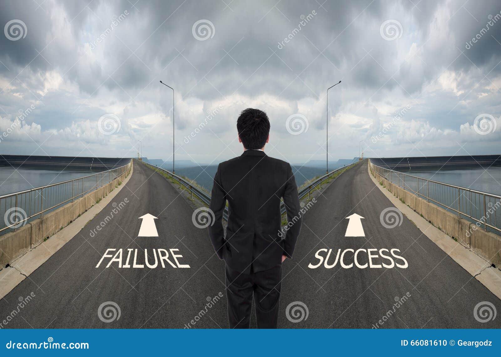 De bedrijfsmens moet tussen verschillende manier beslissen twee, Fai kiezen