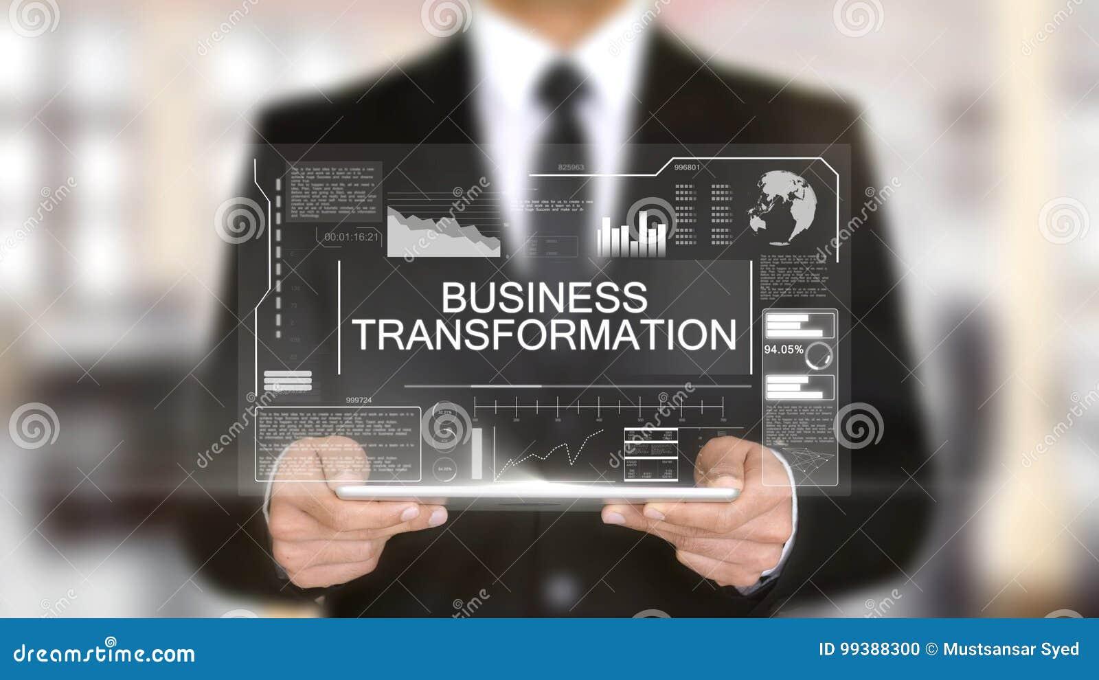 De bedrijfstransformatie, Hologram Futuristische Interface, vergrootte Virtueel