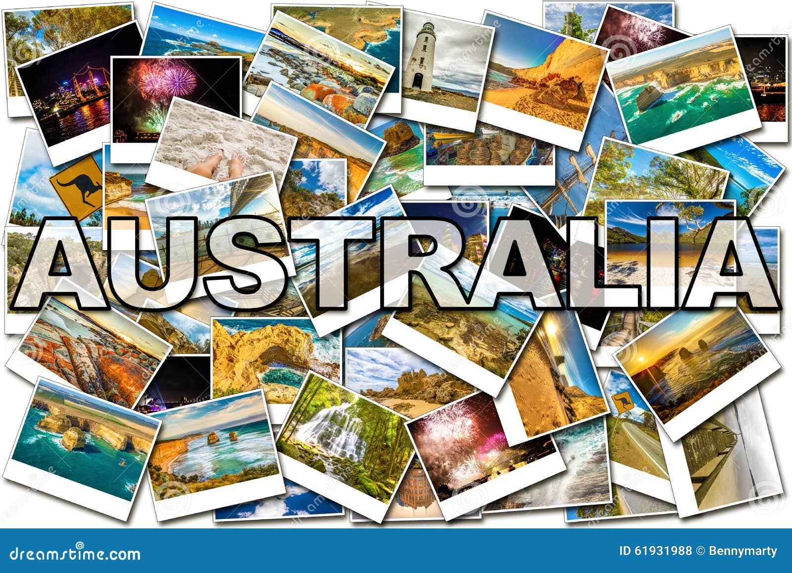 De beeldencollage van Australië