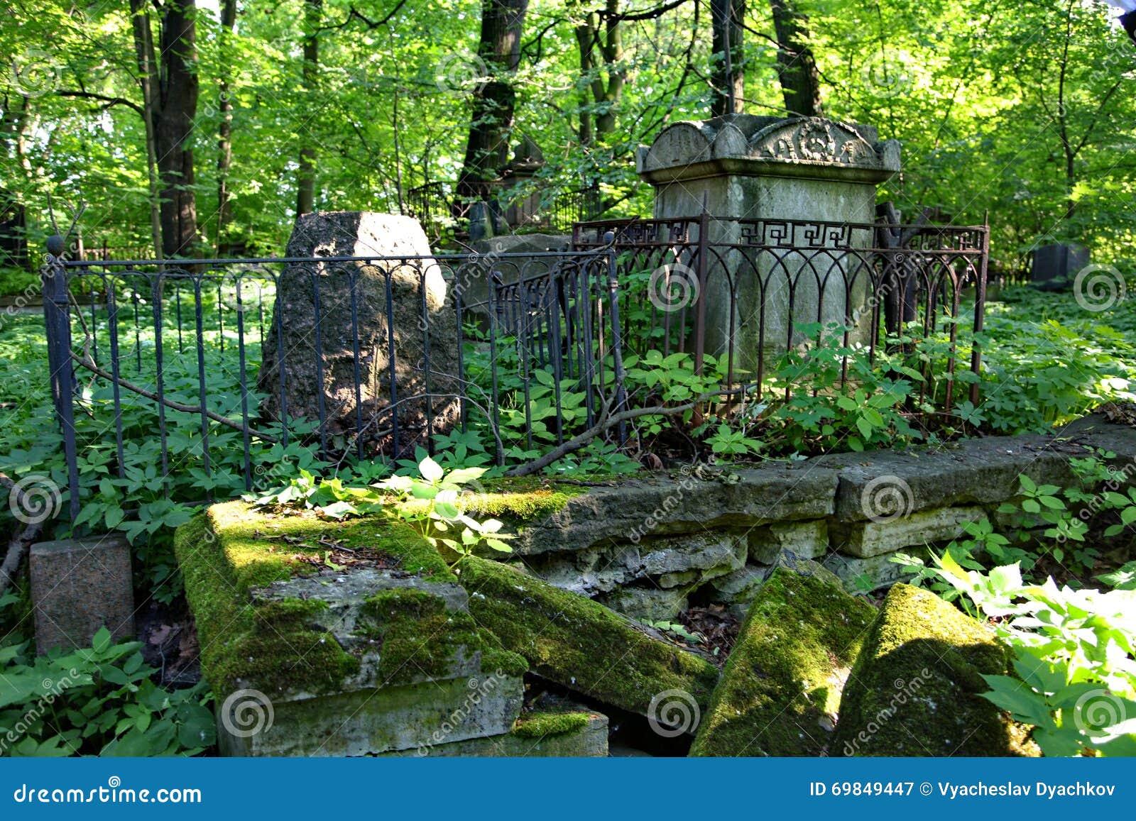 In de begraafplaats