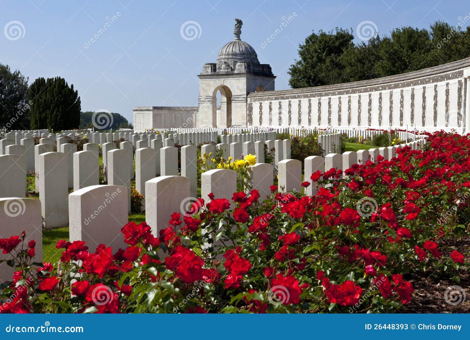 De Begraafplaats van de Wieg van de Tyne in Ypres