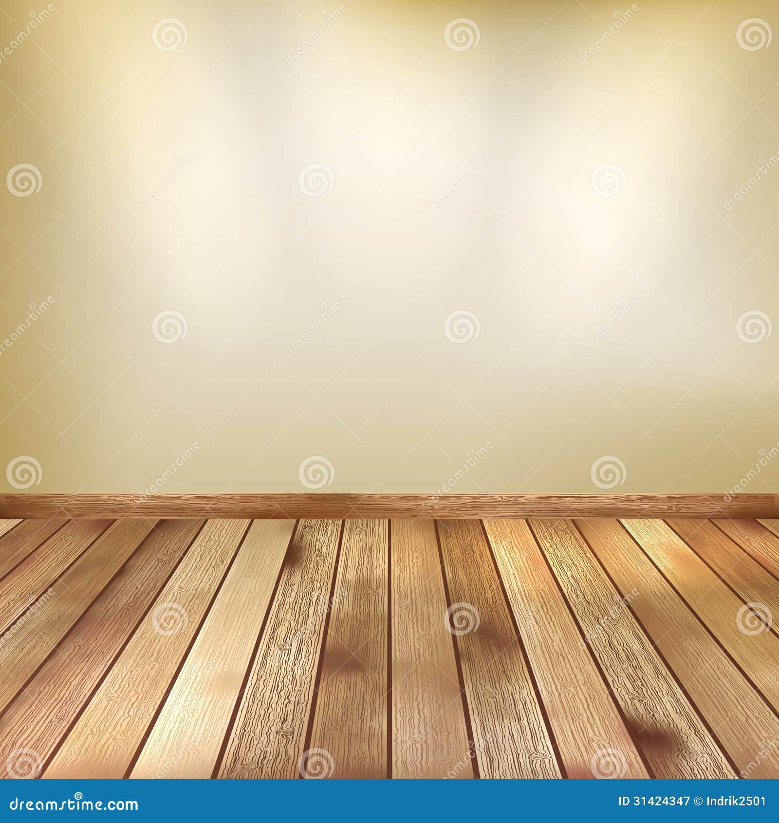 De beige muur met vlek steekt houten vloer aan eps 10 royalty vrije stock fotografie - Parket aan de muur ...