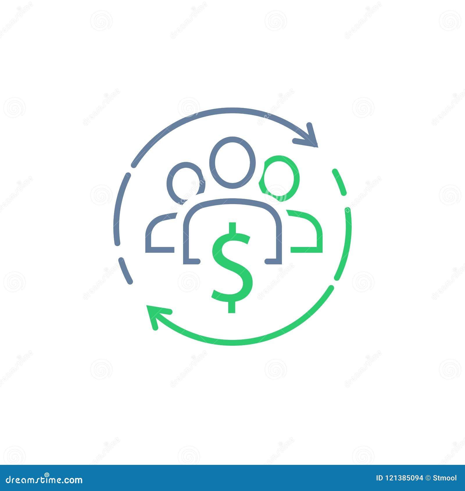 De beleggingsmaatschappij, de collectieve dienst, deelde economieconcept, financieel beheer, nieuwe handelsinvesteringen, menigte