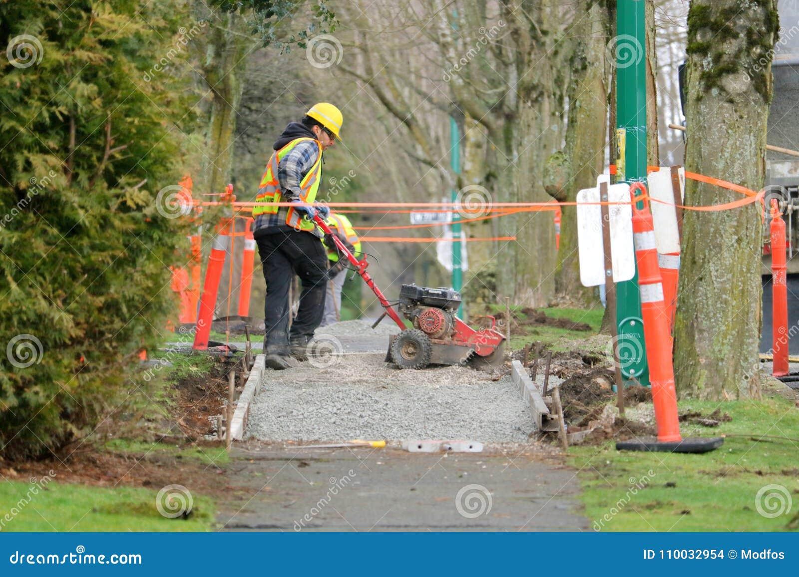 De Bemanning die van het stadswerk Stoep vervangen