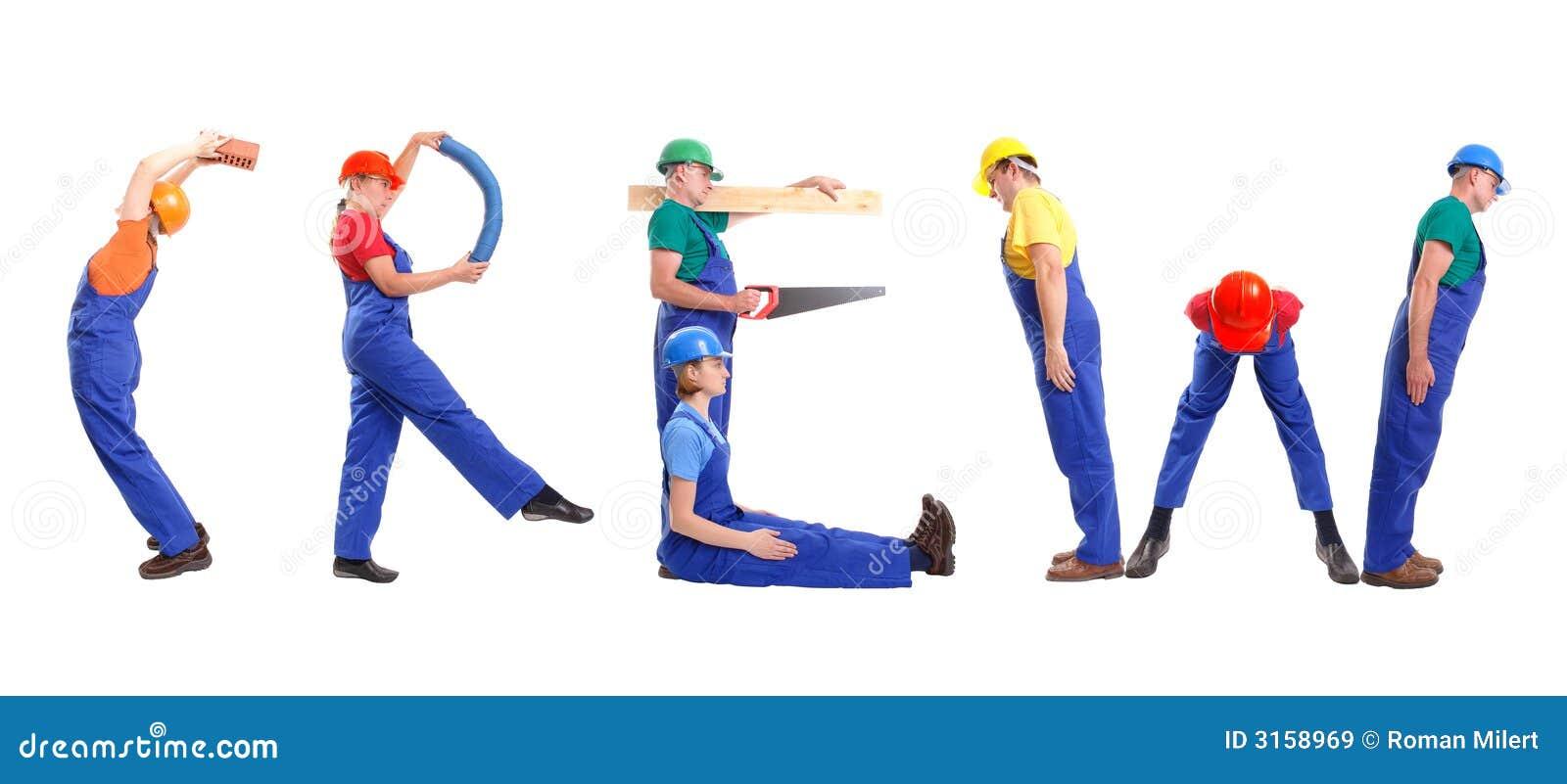 De bemanning van de bouw