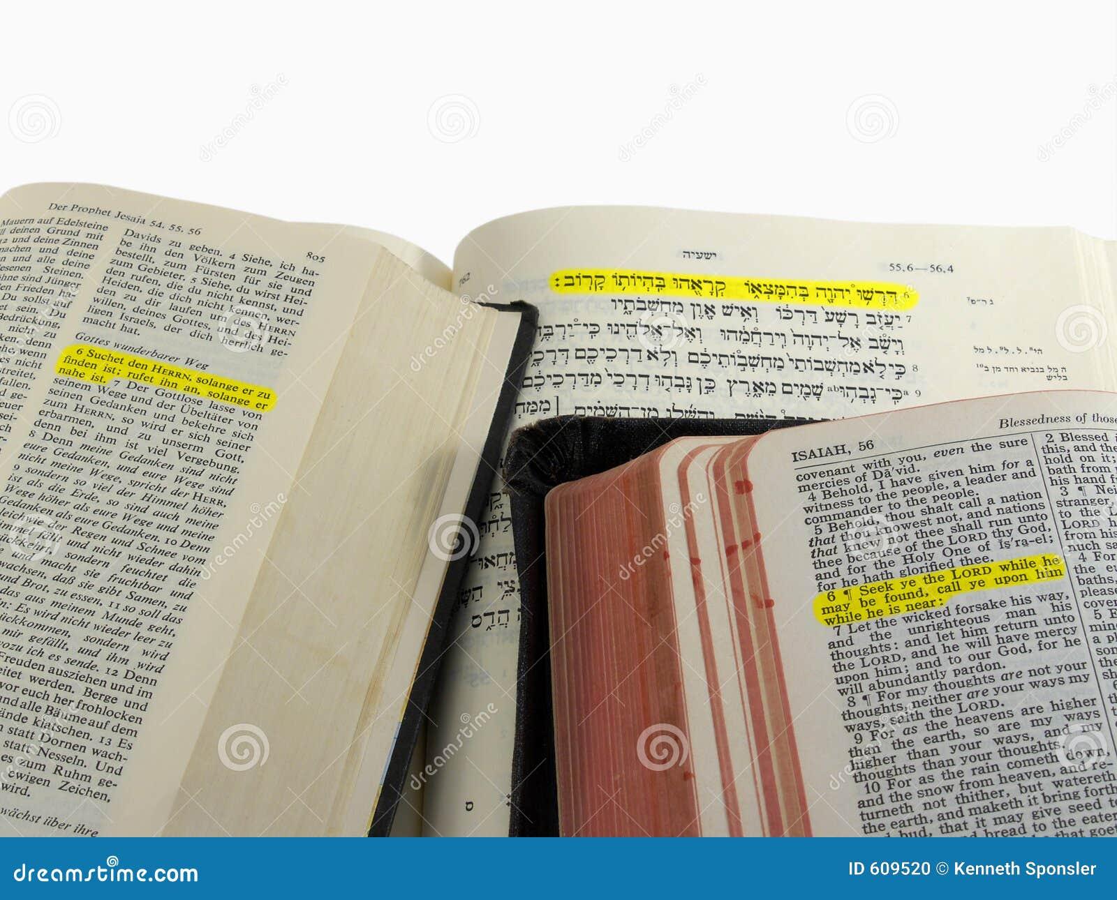 De benadrukte passage van de Bijbel