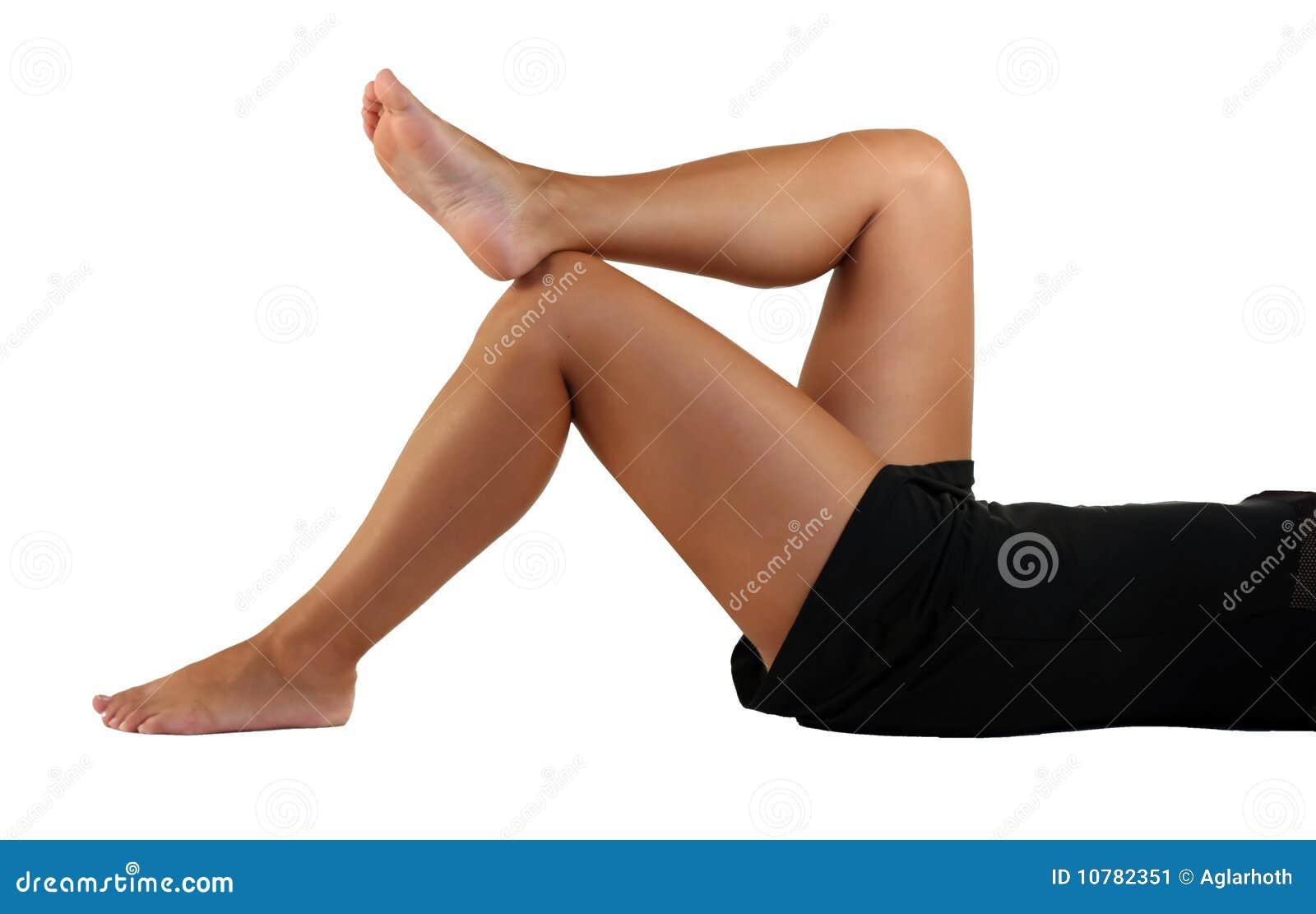 De benen van de vrouw