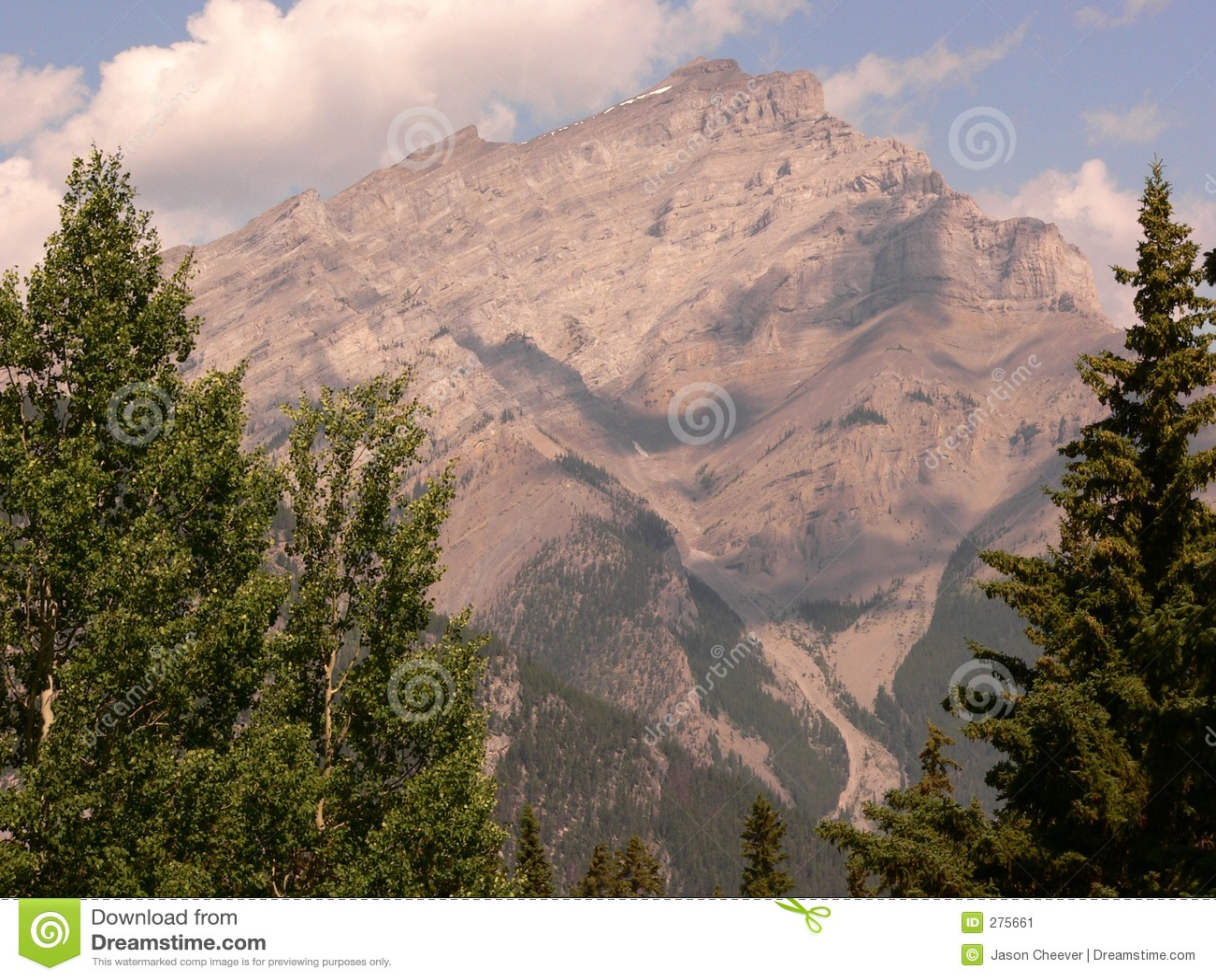 De Berg van de cascade, Banff