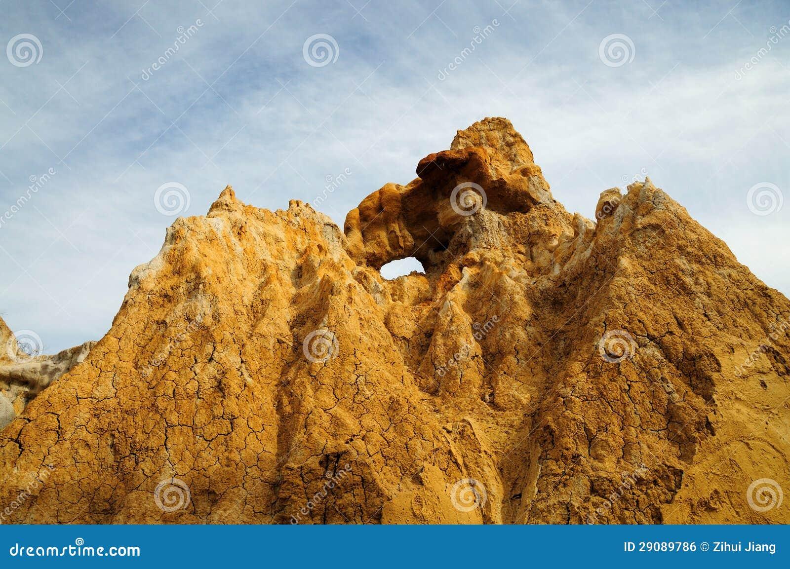 De berg van de klei