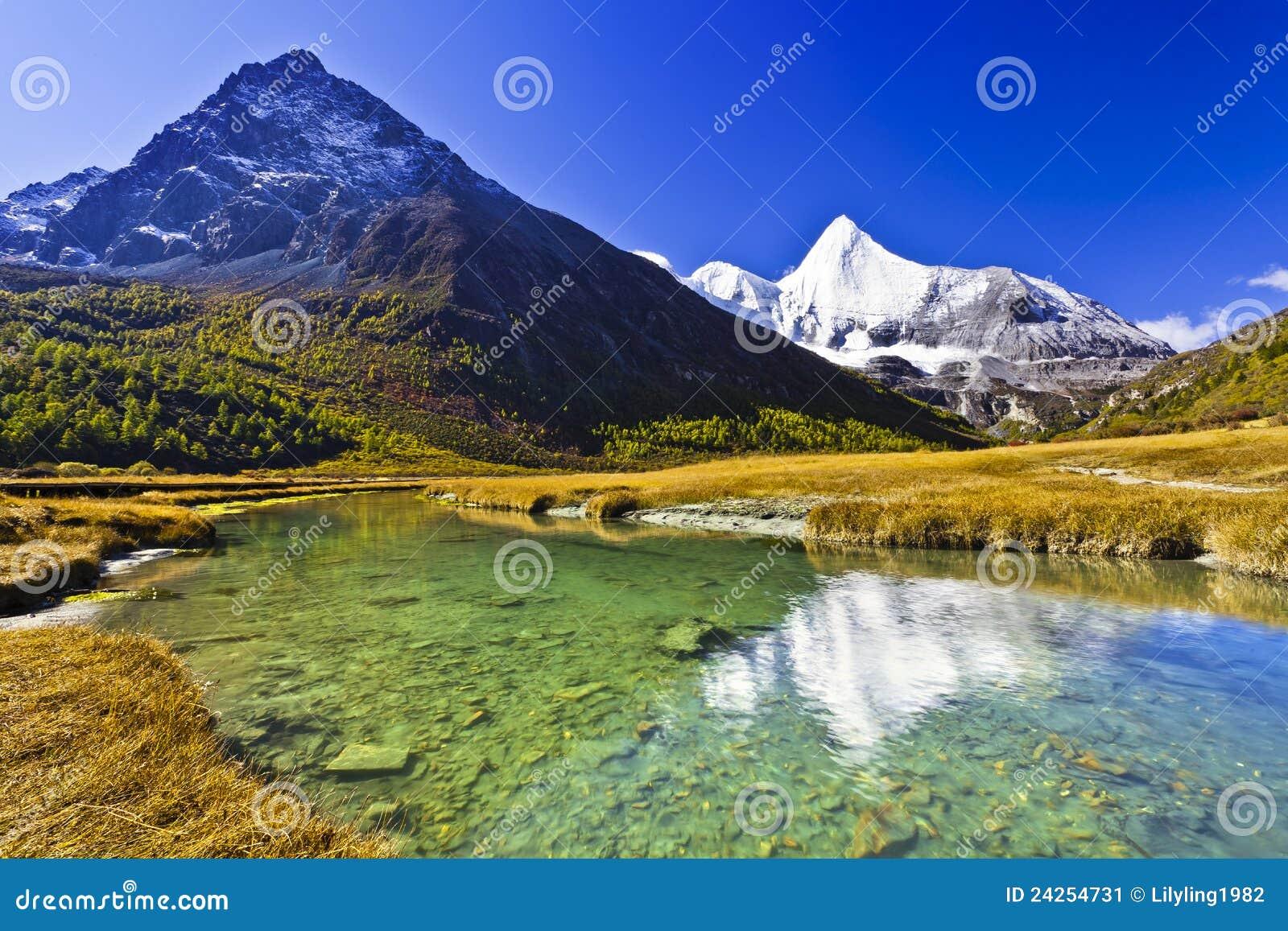 De berg van de sneeuw