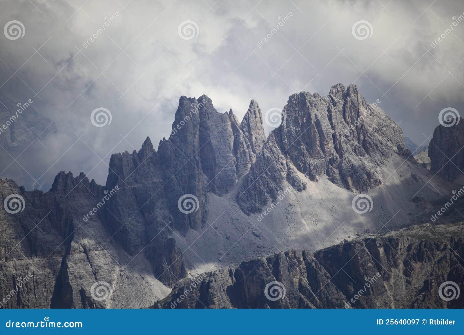 De berg van het dolomiet
