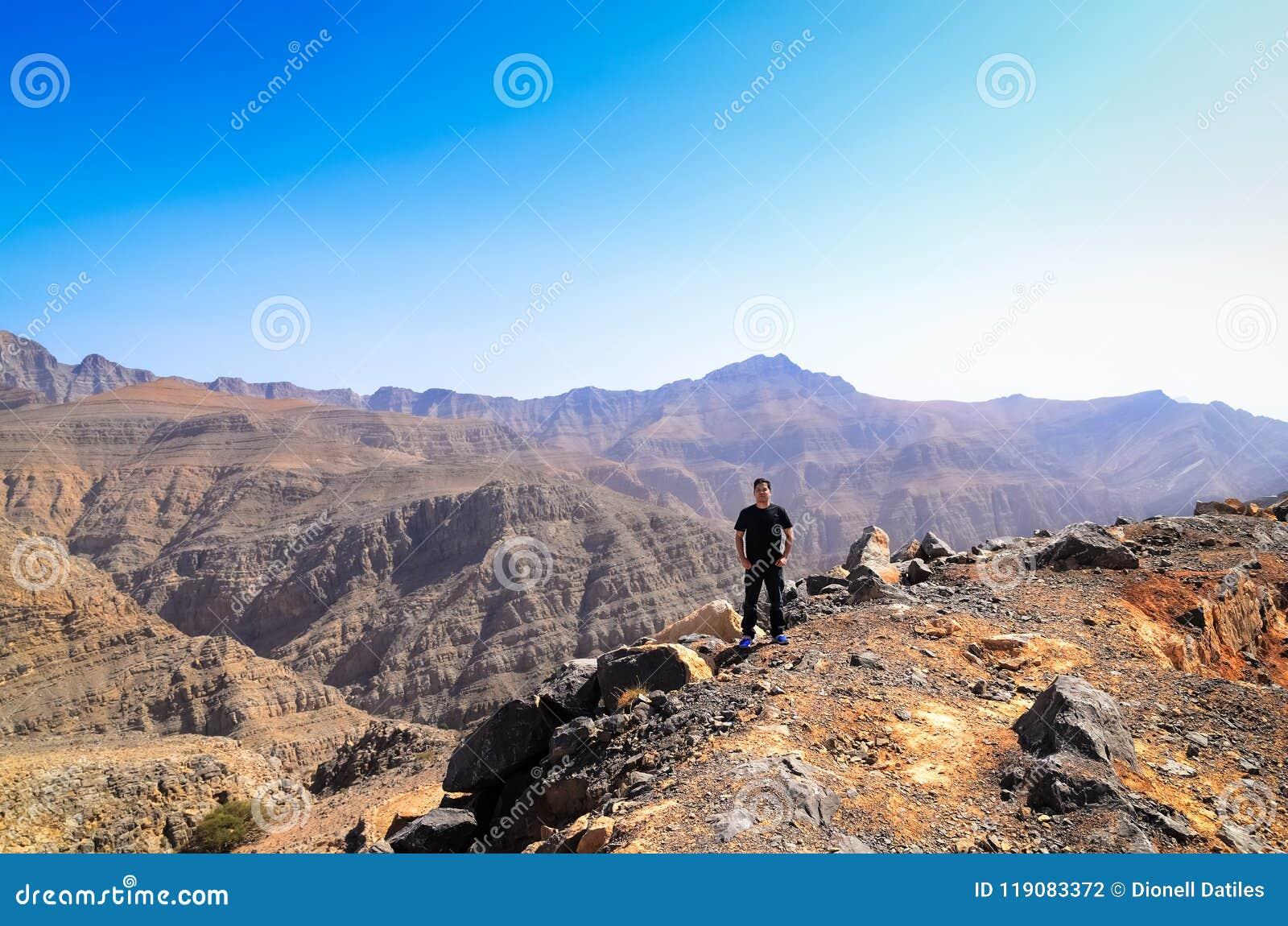 De berg van Jebeljais in Ras Al Khaimah