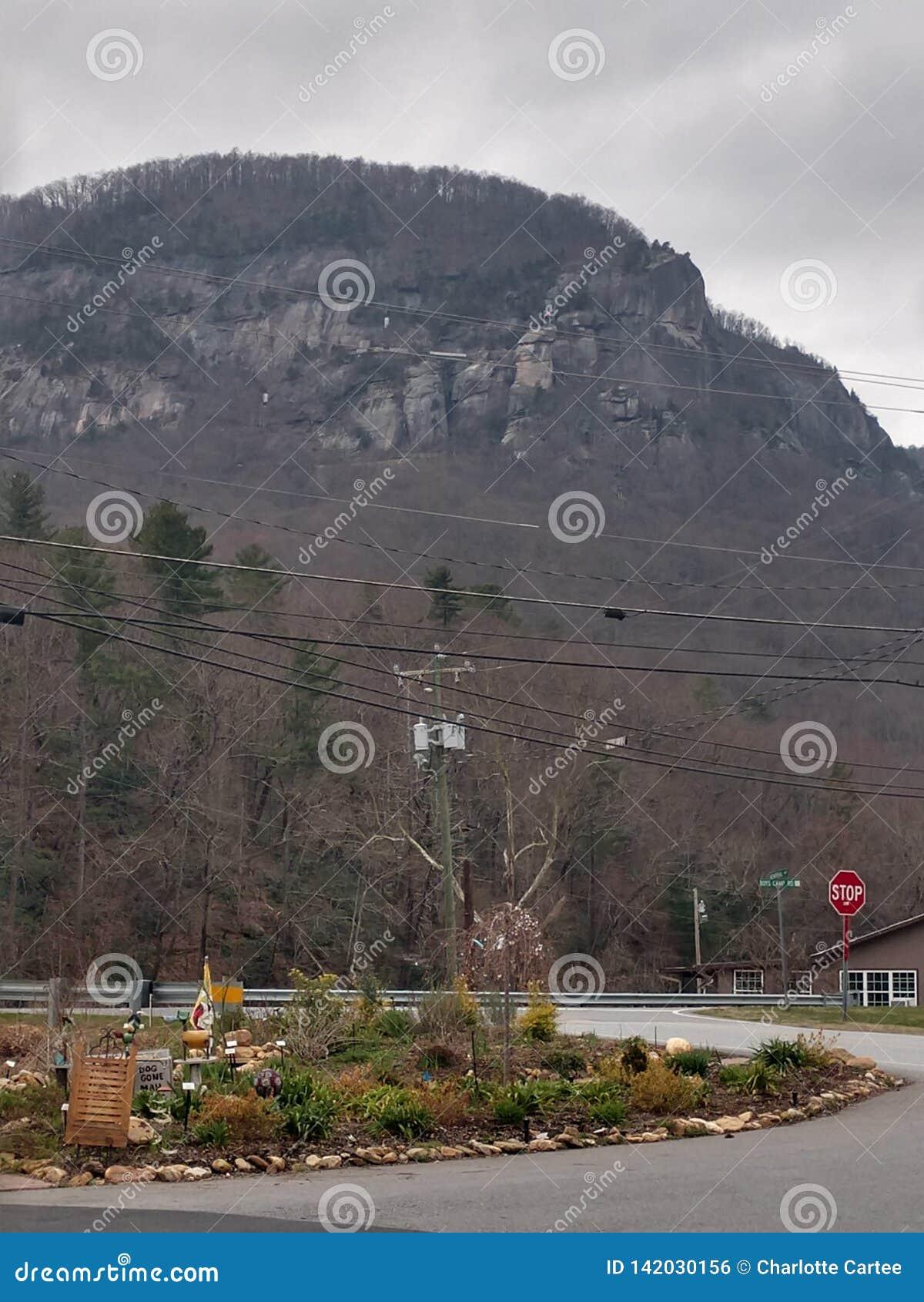 De Berg van de schoorsteenrots, Noord-Carolina