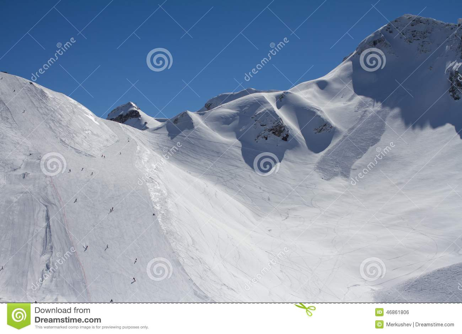 De bergen in Krasnaya Polyana, Rusland