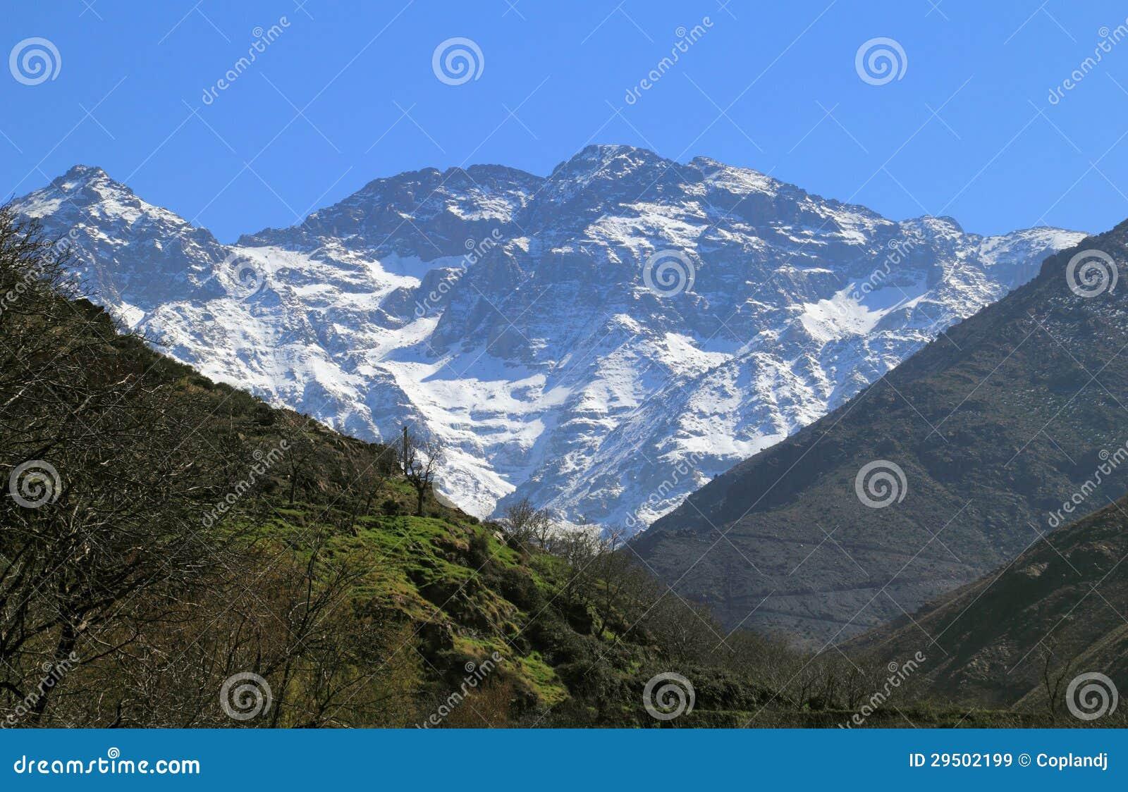 De Bergen Toubkal van de Atlas van Marokko