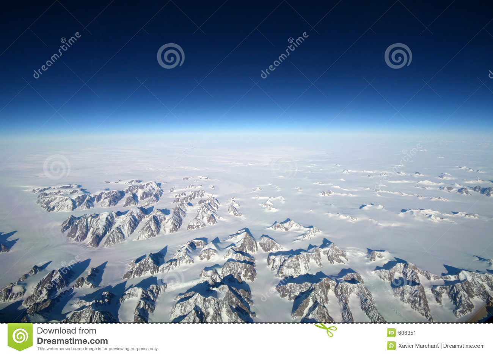De bergen van IJsland van de hemel