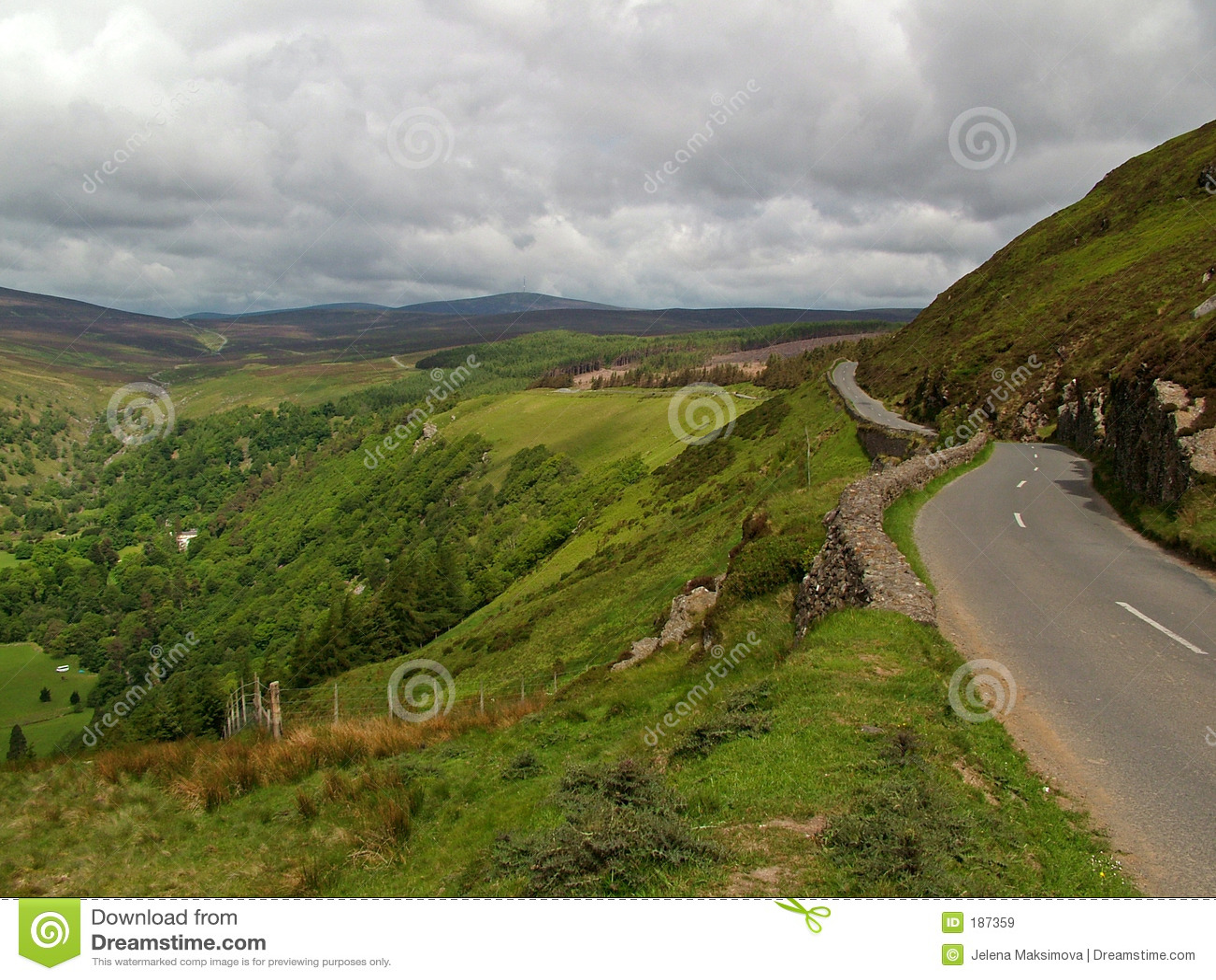 De bergen van Wicklow