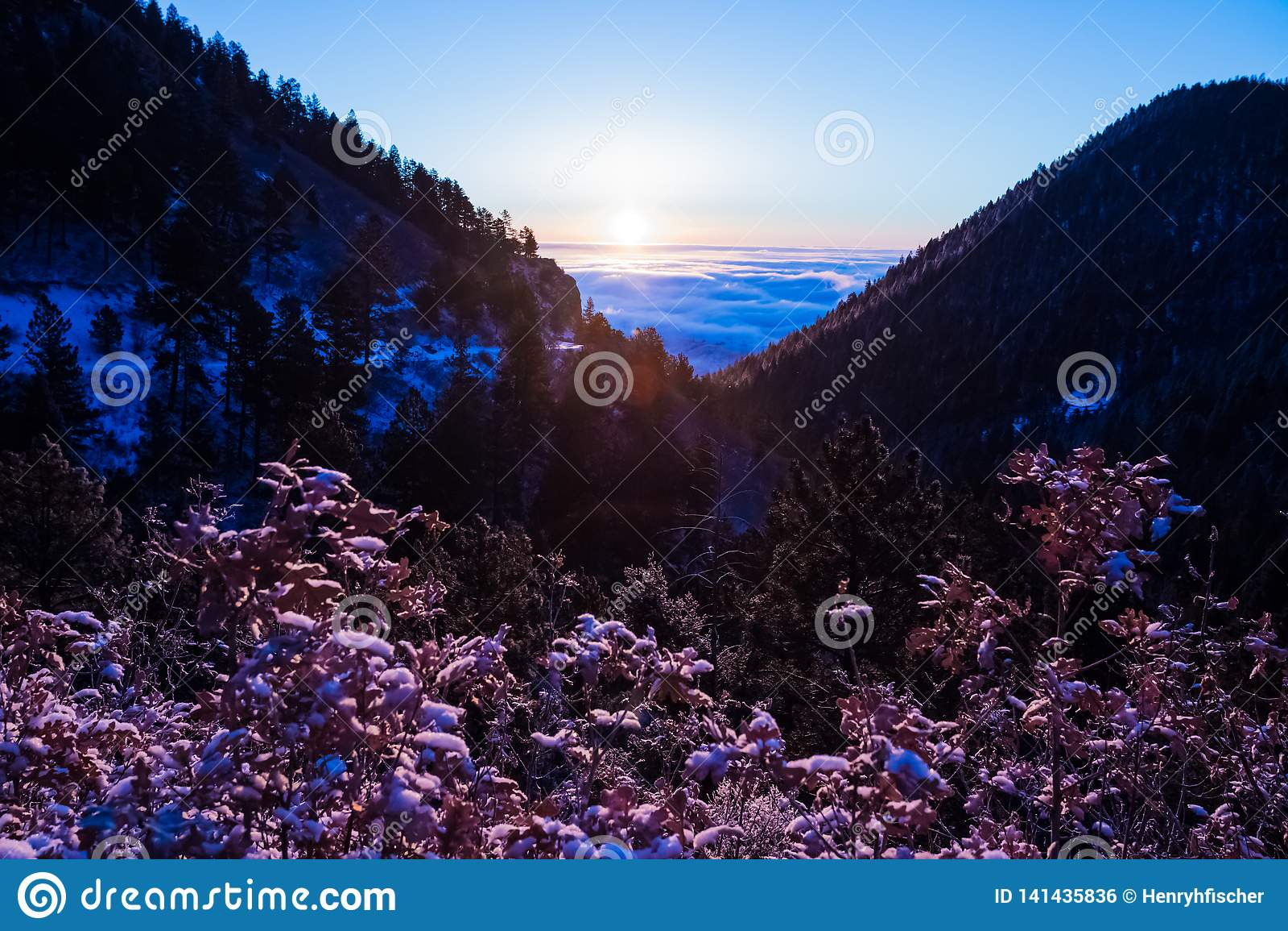 De Bergzonsopgang van Colorado