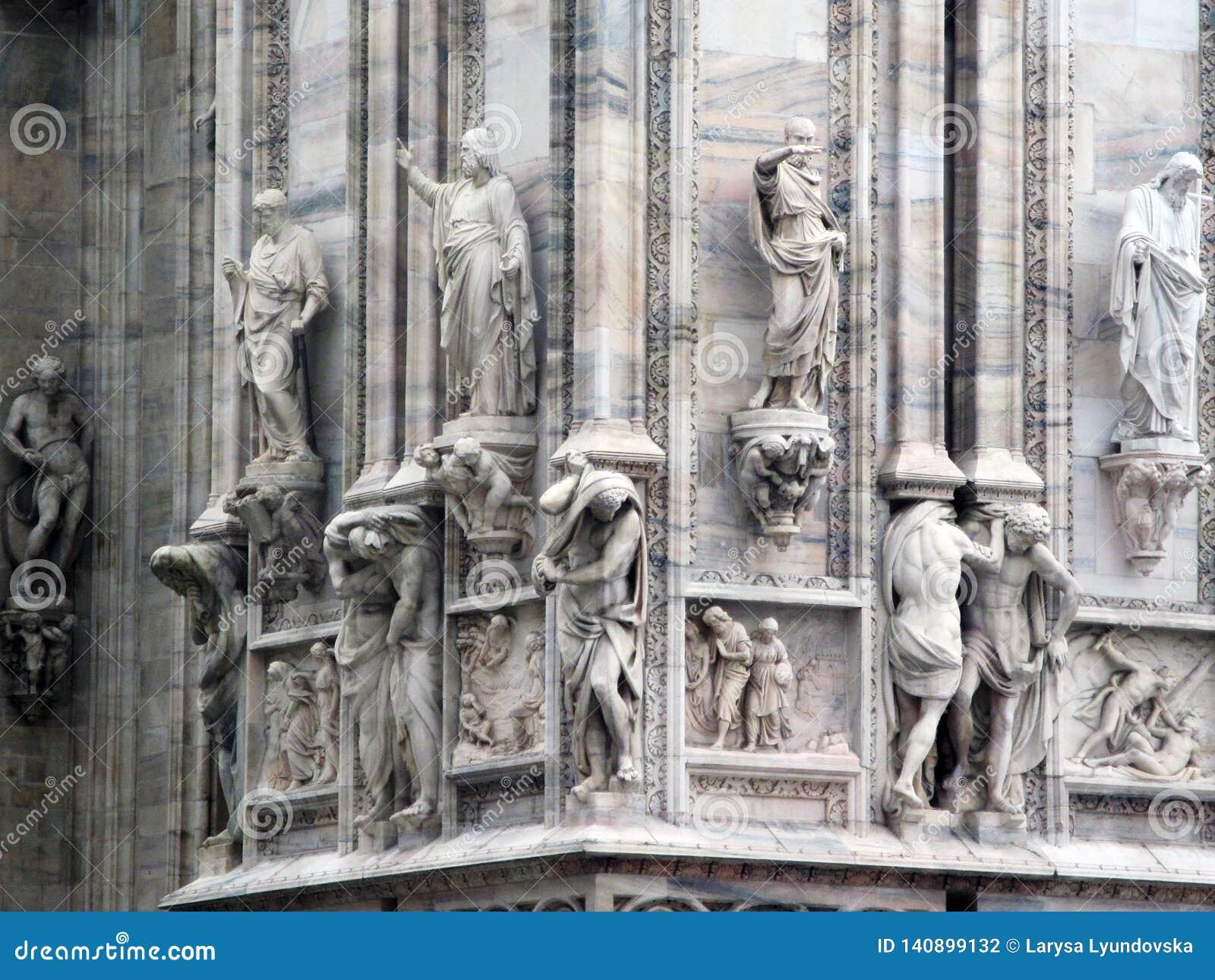 De beroemde Kathedraal van Milan Italian: Duomodi Milaan, de Kathedraal van de Geboorte van Christus van Virgin