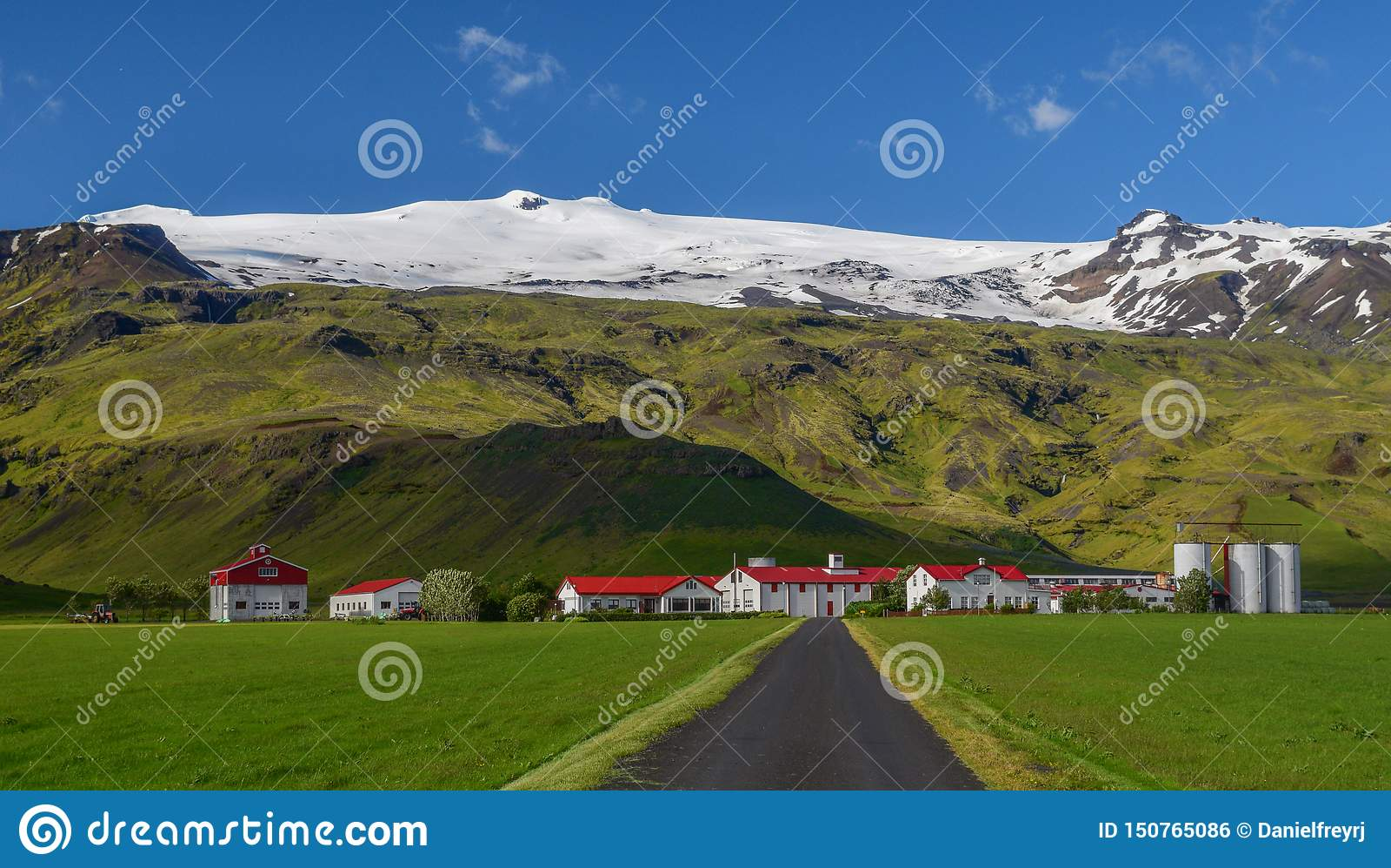 De beruchte Eyjafjallajokull-vulkaan, Zuid-IJsland