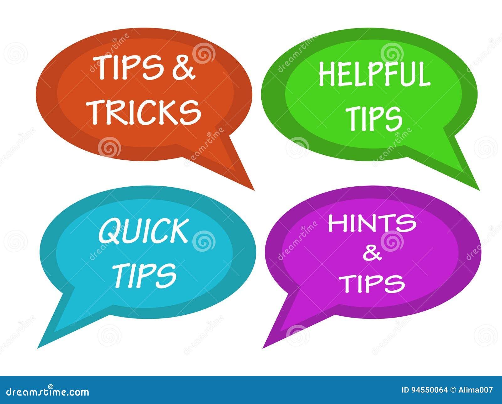 De besprekingen borrelt met inschrijvingsuiteinden en trucs, nuttige uiteinden, snelle uiteinden, wenken en uiteinden