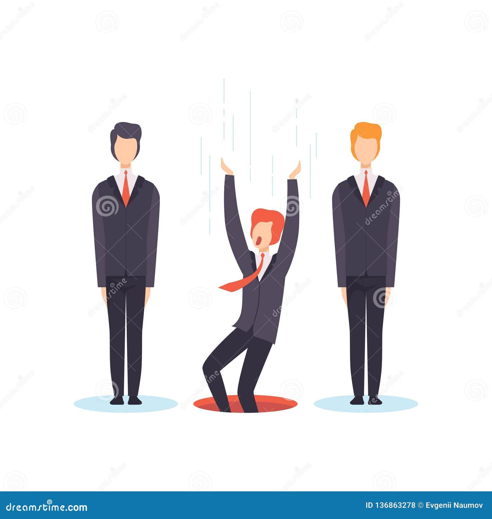De beste persoon van groep, de bedrijfsconcurrentie, werkzoekenden, de vectorillustratie van het werkloosheidsconcept zoek