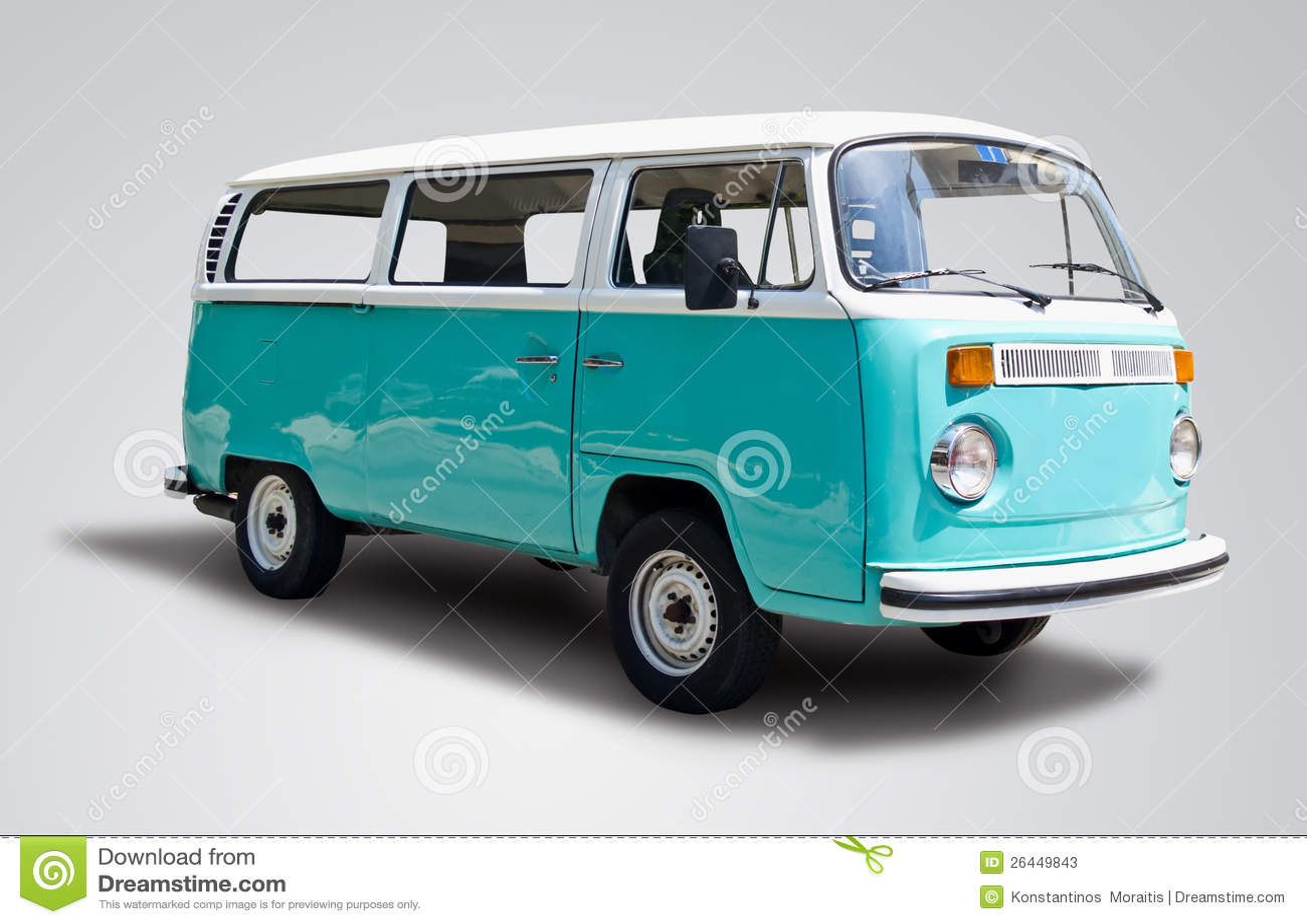 De bestelwagen van de bus