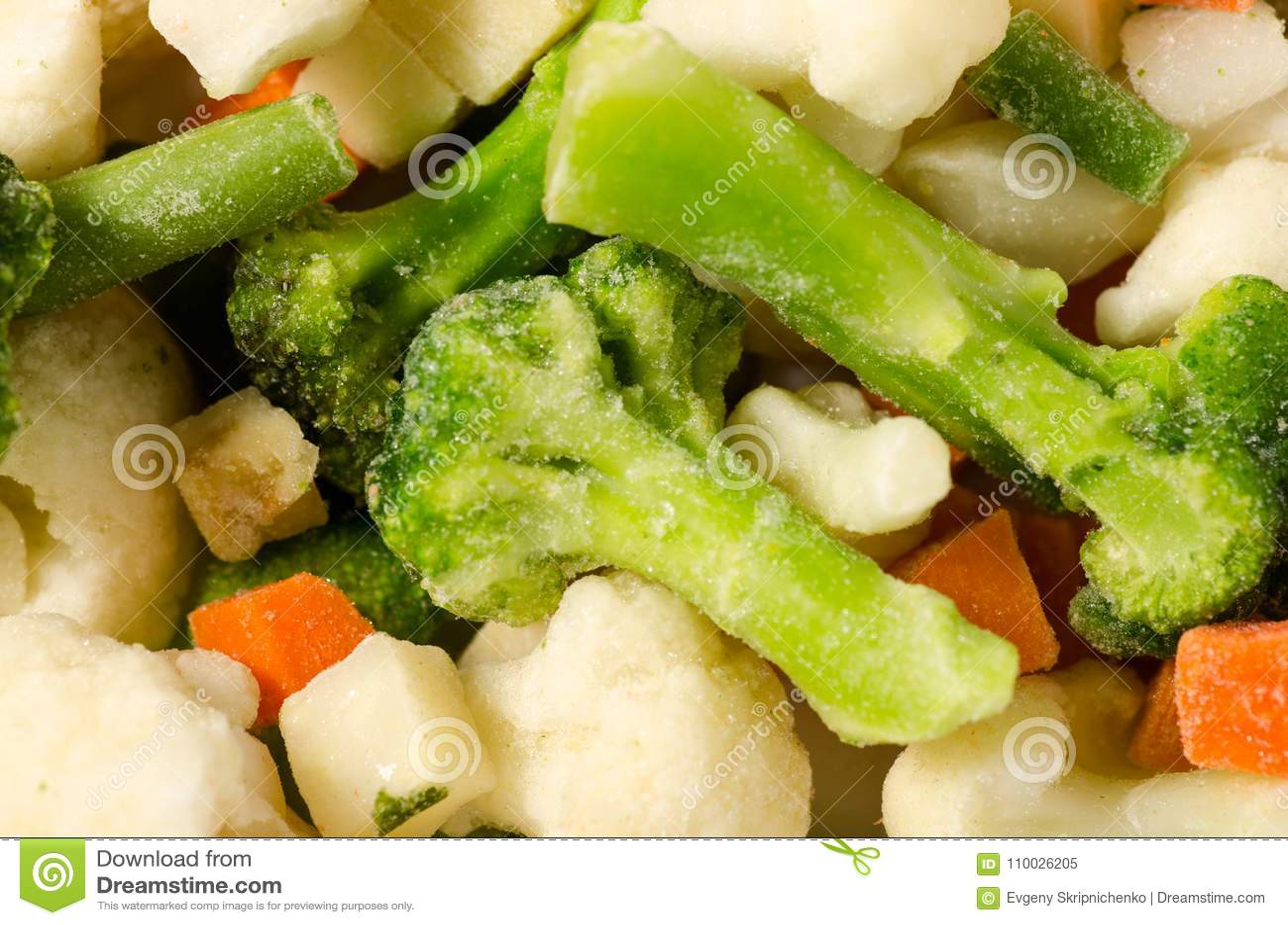 De bevroren groenten mengen natuurlijke macro