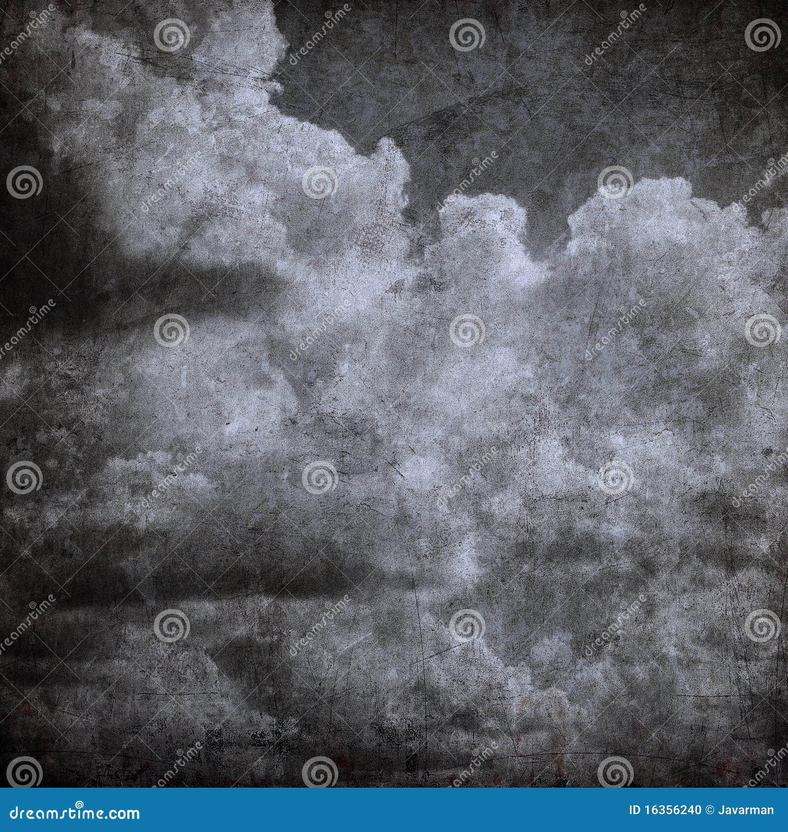 De bewolkte hemel van Grunge, perfecte Halloween achtergrond