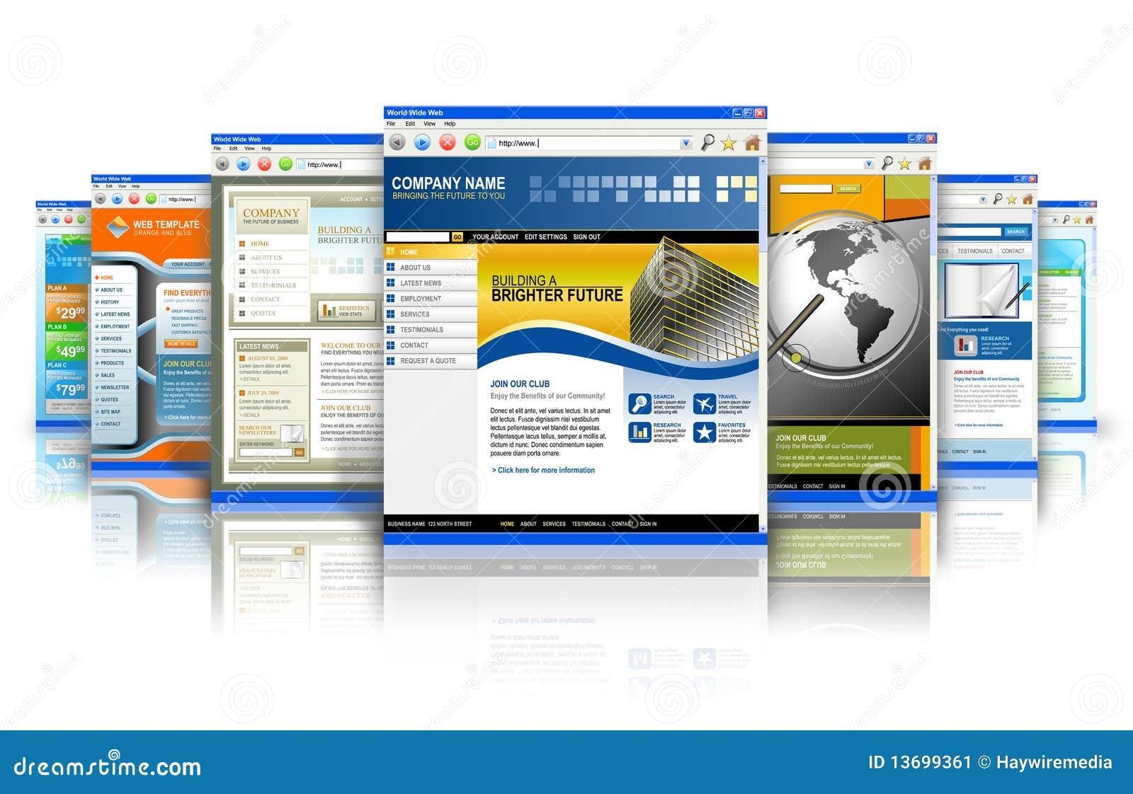 De Bezinning van de Websites van Internet van de technologie