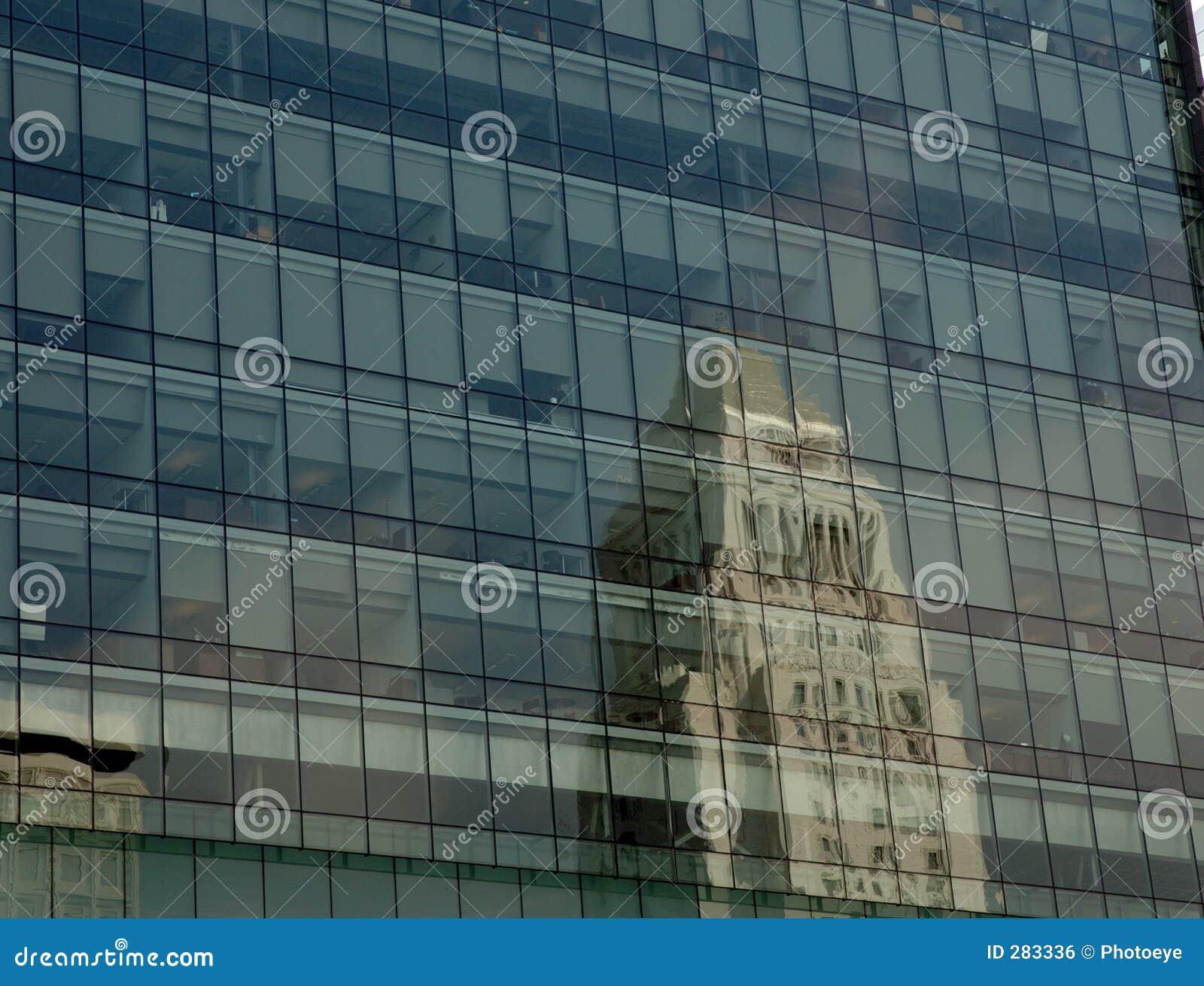 De bezinning van het Stadhuis van Los Angeles
